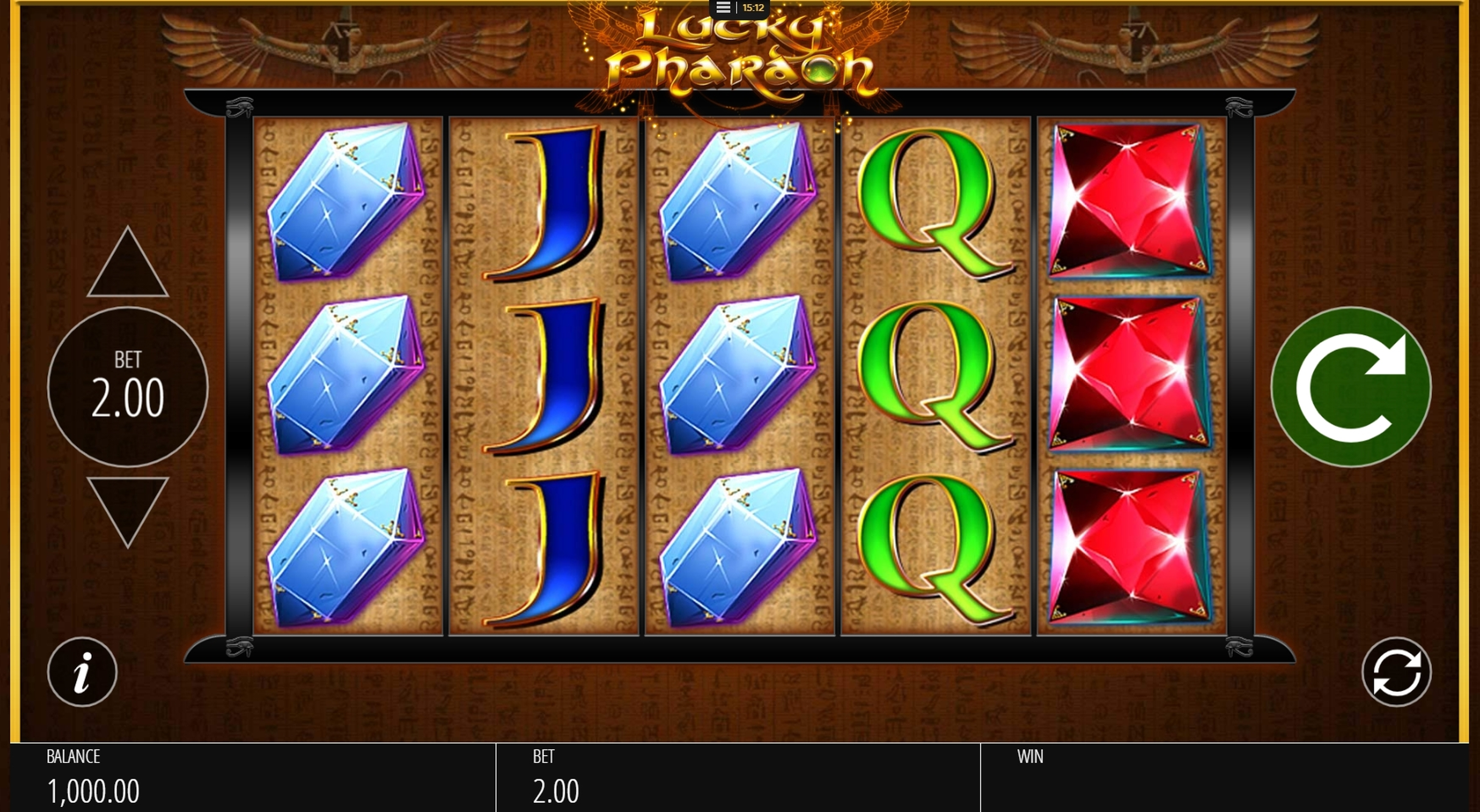 Reels in Lucky Pharaoh Slot Game by Blueprint Gaming
