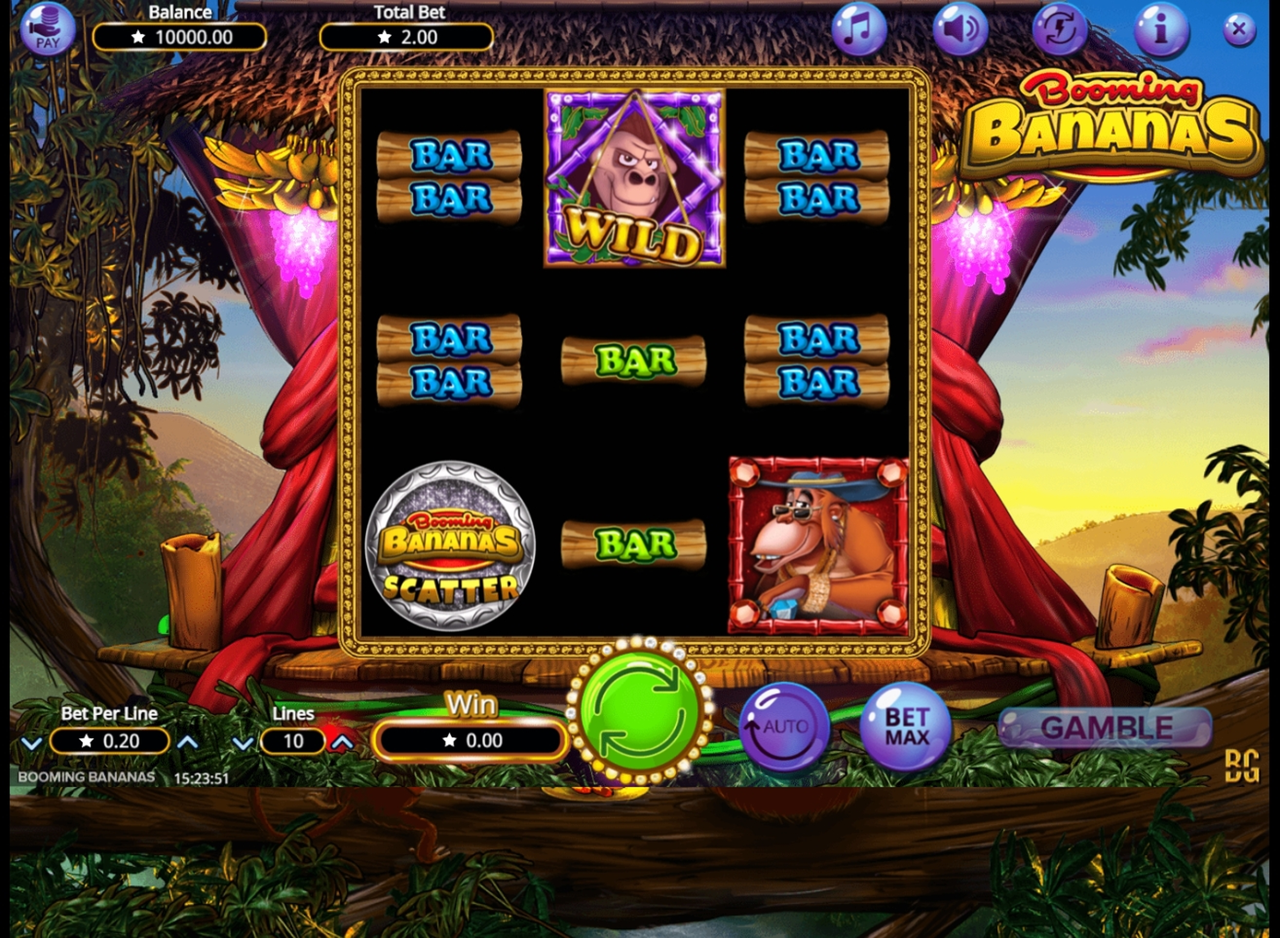 Reels in Booming Bananas Slot Game by Booming Games