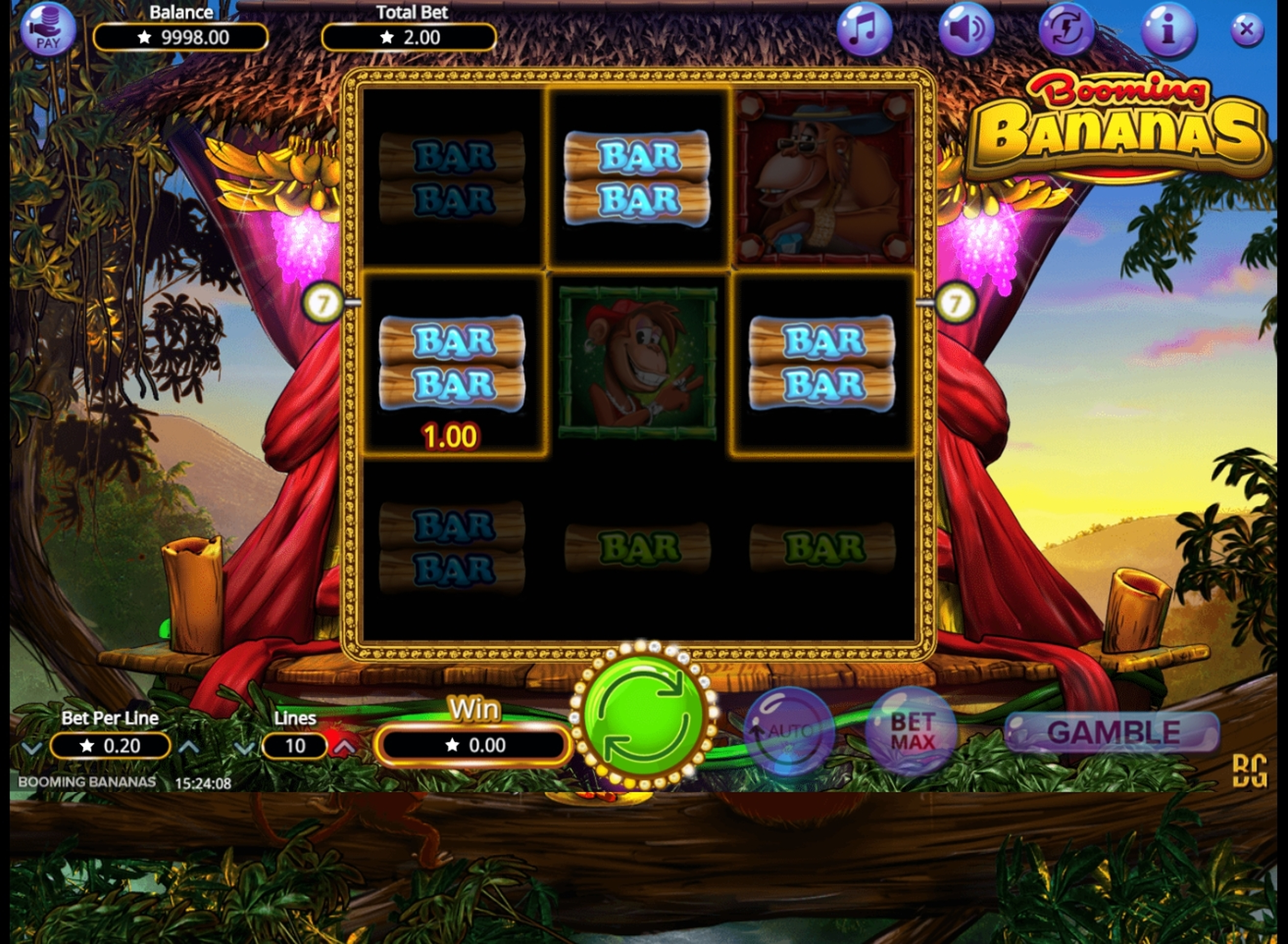 Win Money in Booming Bananas Free Slot Game by Booming Games