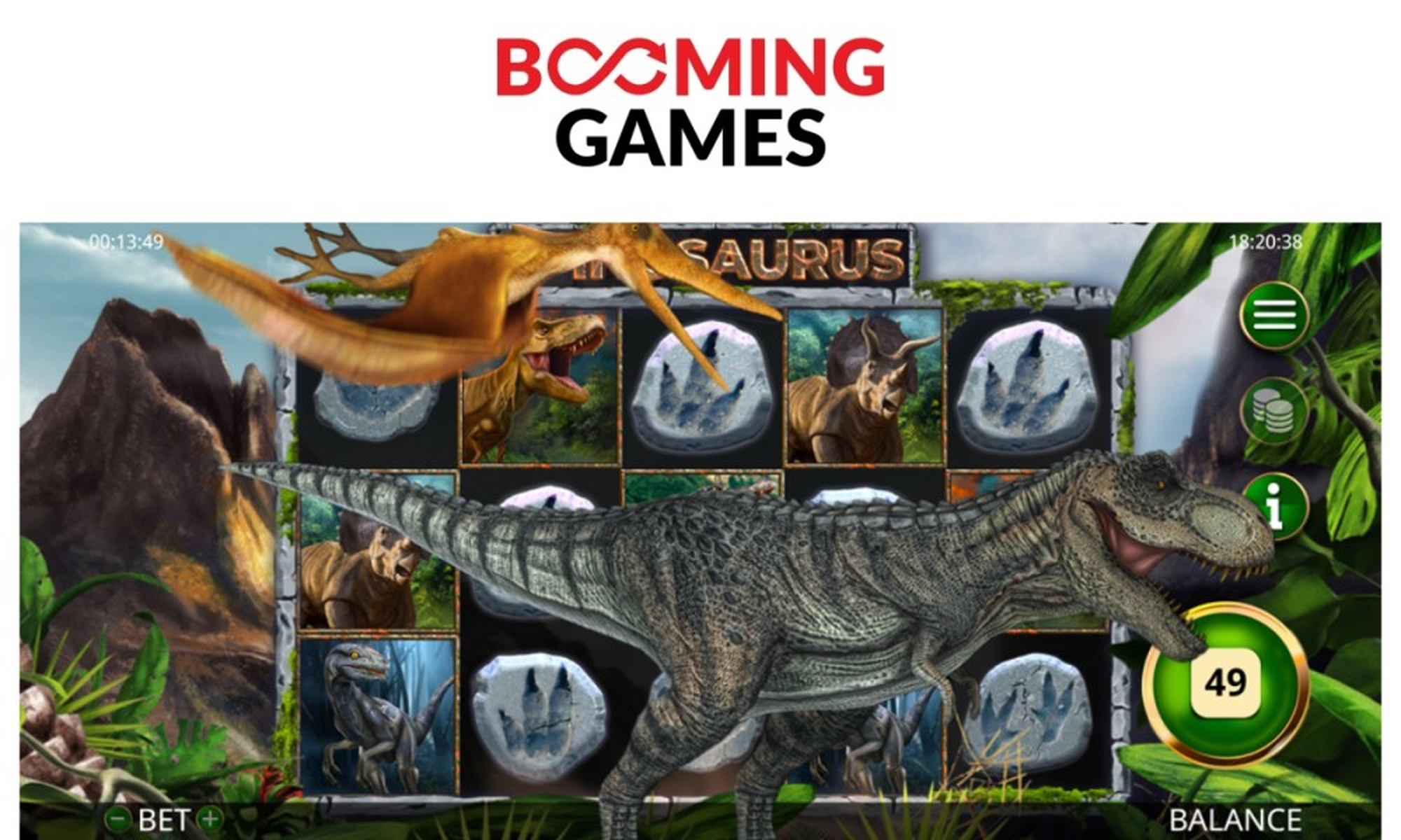 The Spinosaurus Online Slot Demo Game by Booming Games