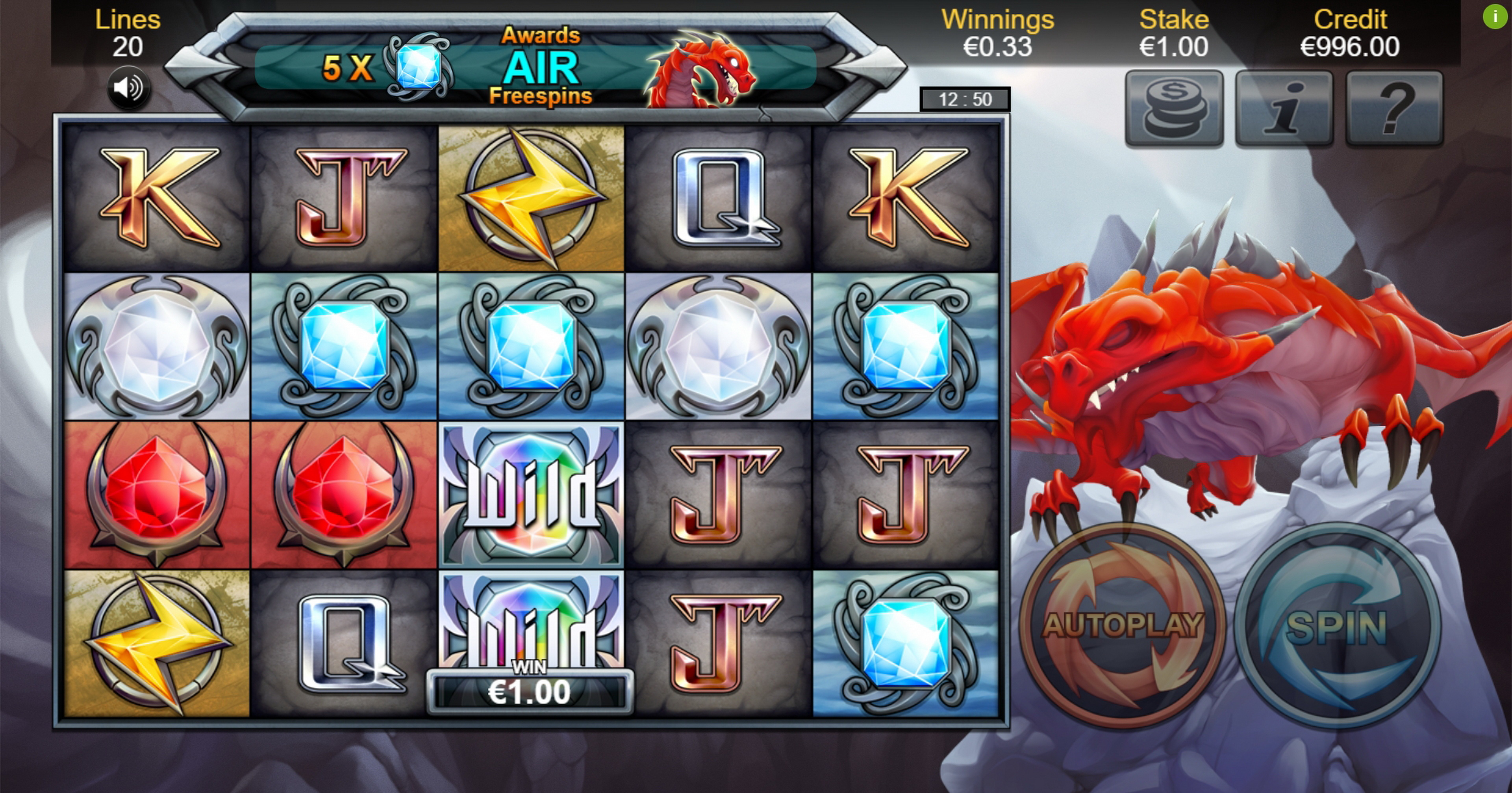 Win Money in Dragon Lore Free Slot Game by Bulletproof Games