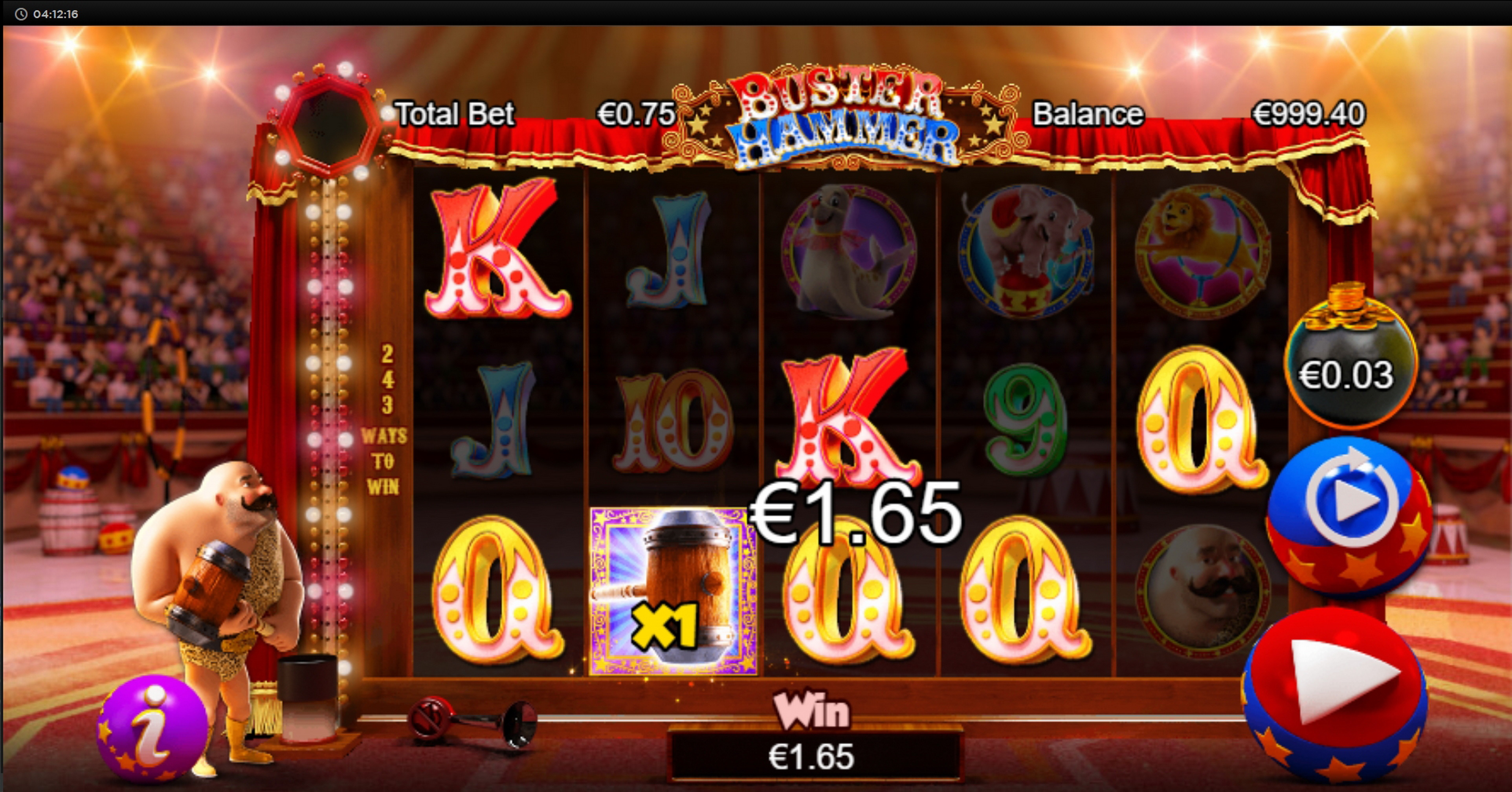 Win Money in Buster Hammer Free Slot Game by Chance Interactive