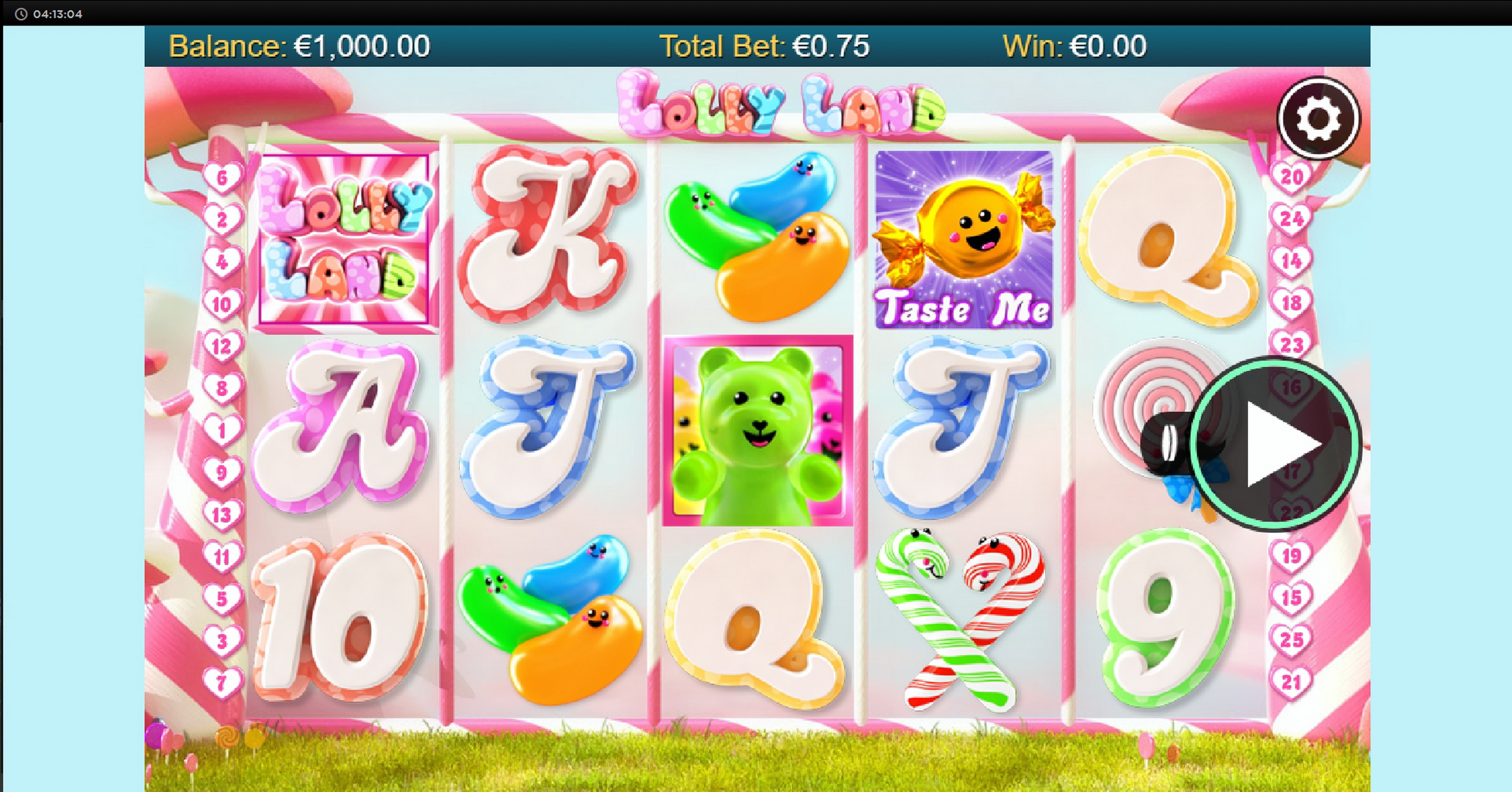 Reels in Lolly Land Slot Game by Chance Interactive