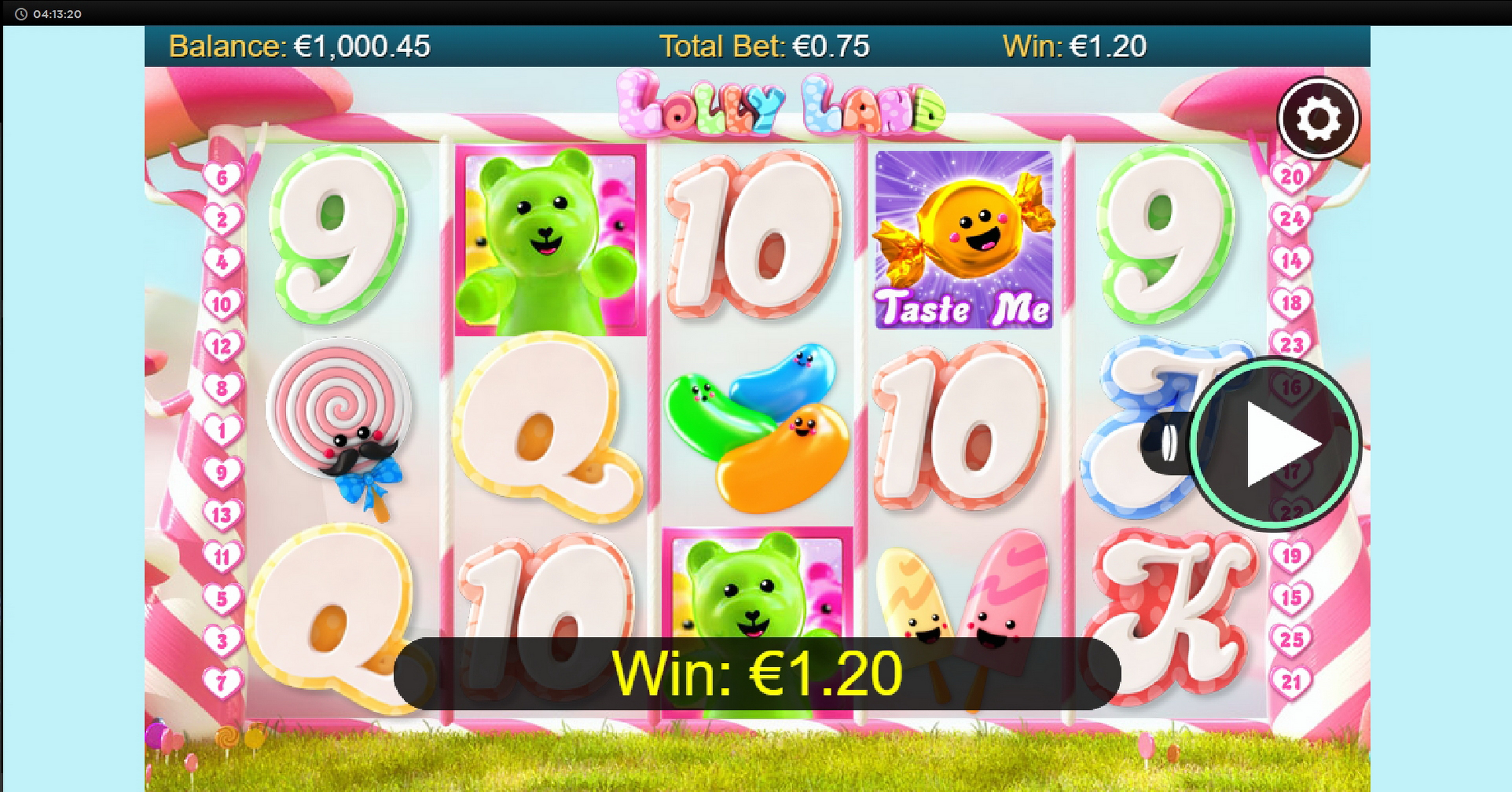 Win Money in Lolly Land Free Slot Game by Chance Interactive