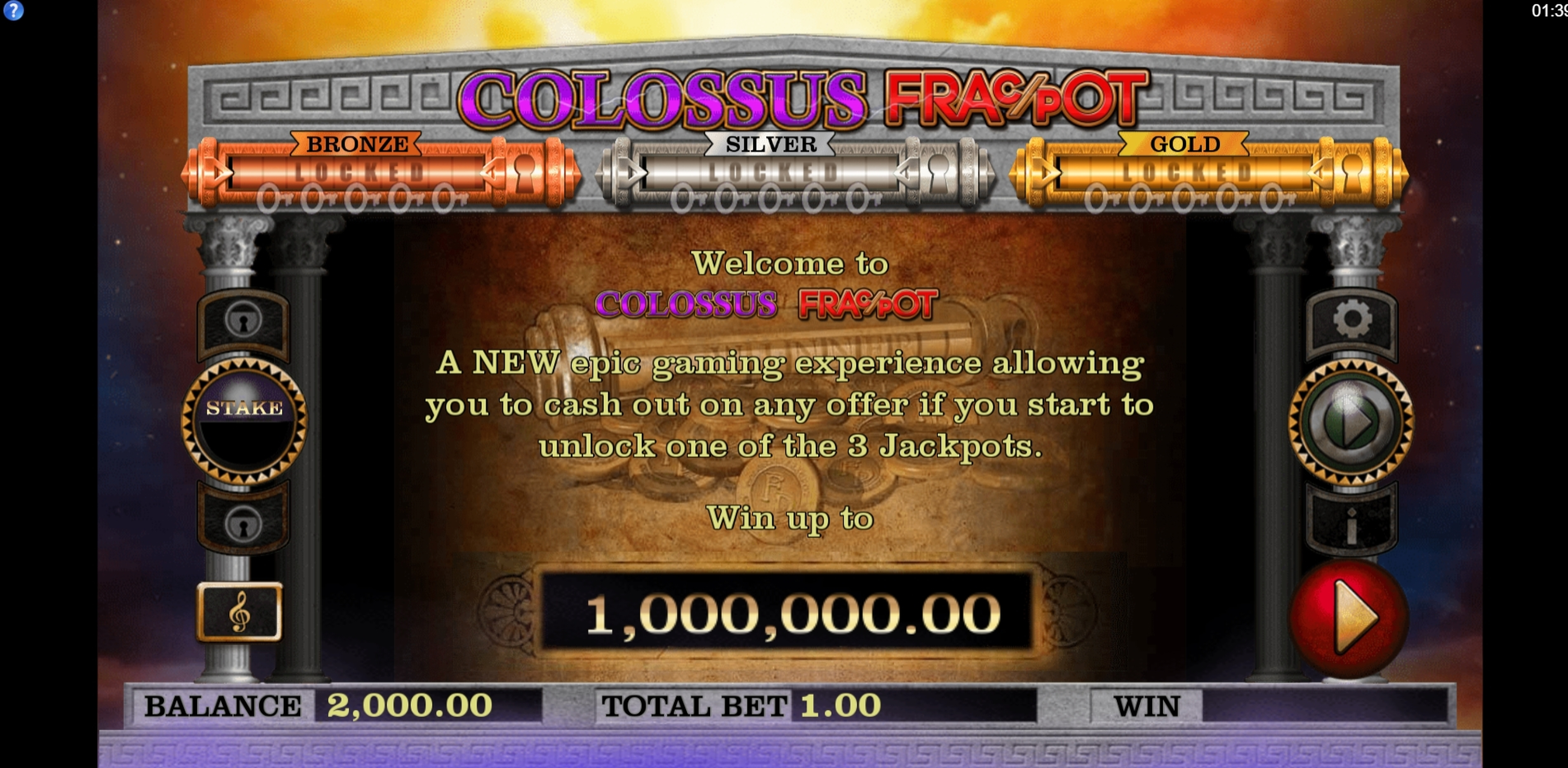 Play Colossus Fracpot Free Casino Slot Game by CORE Gaming