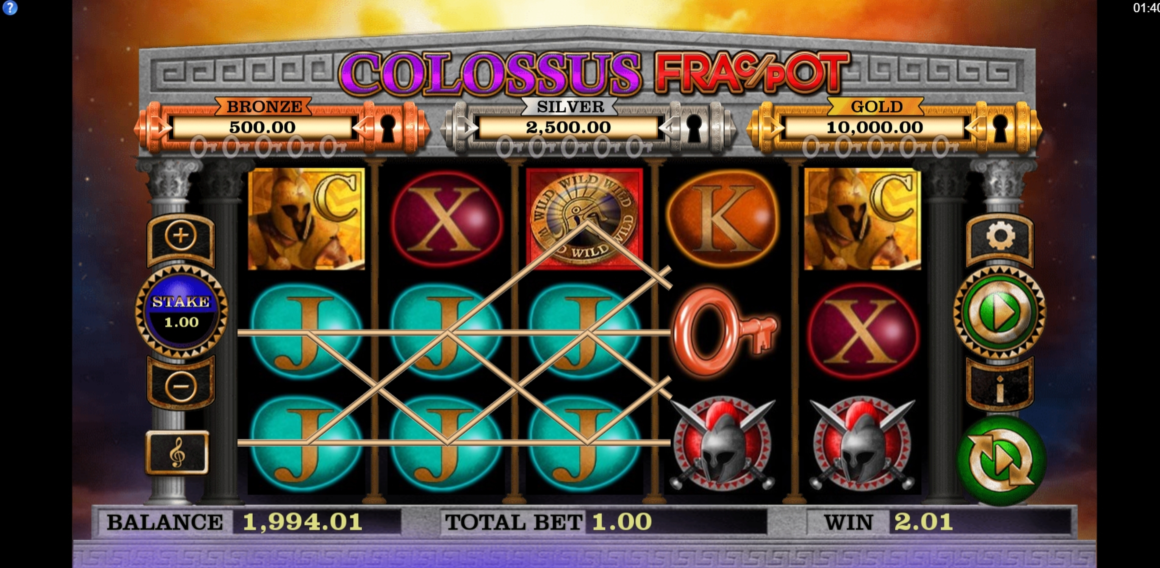 Win Money in Colossus Fracpot Free Slot Game by CORE Gaming