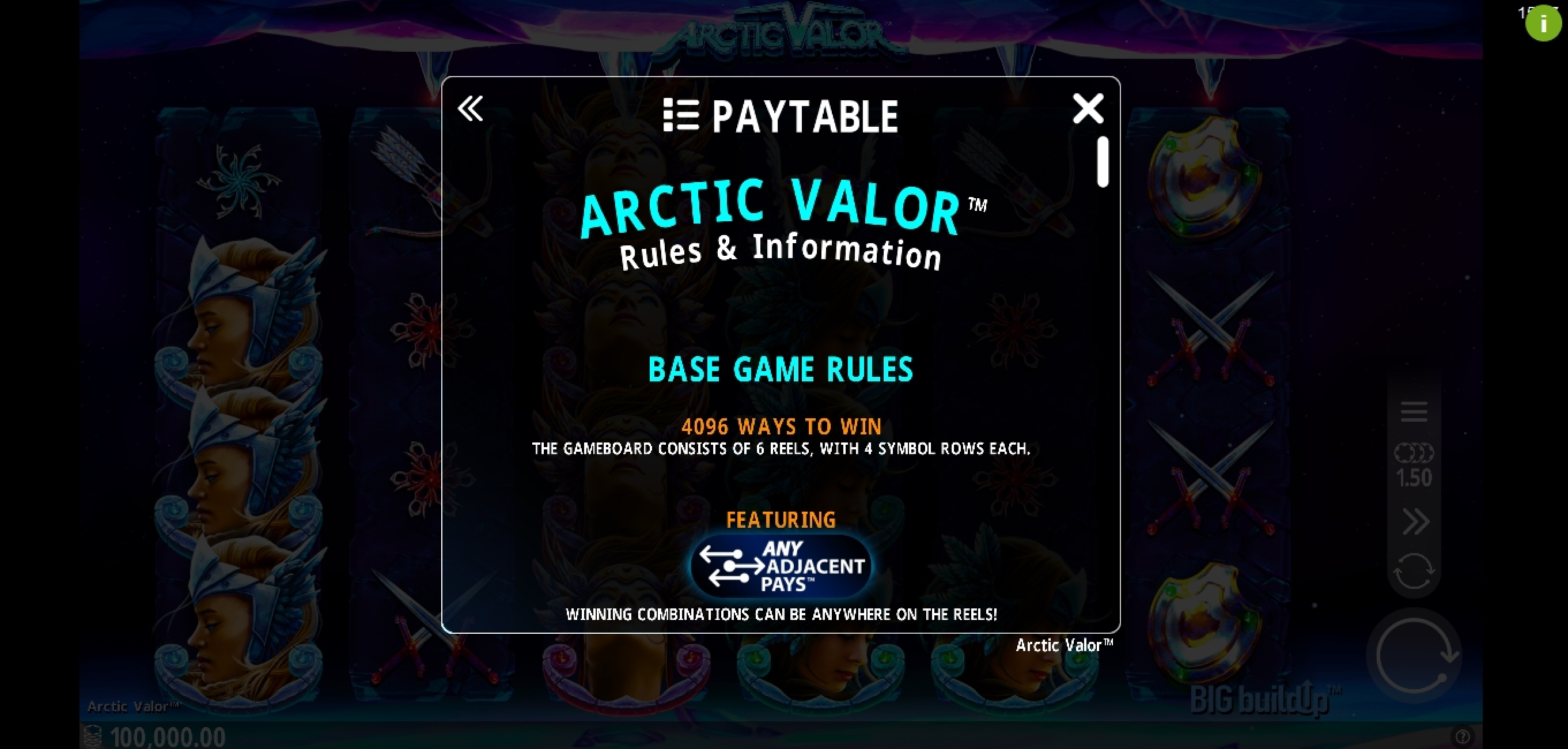 Info of Arctic Valor Slot Game by Crazy Tooth Studio