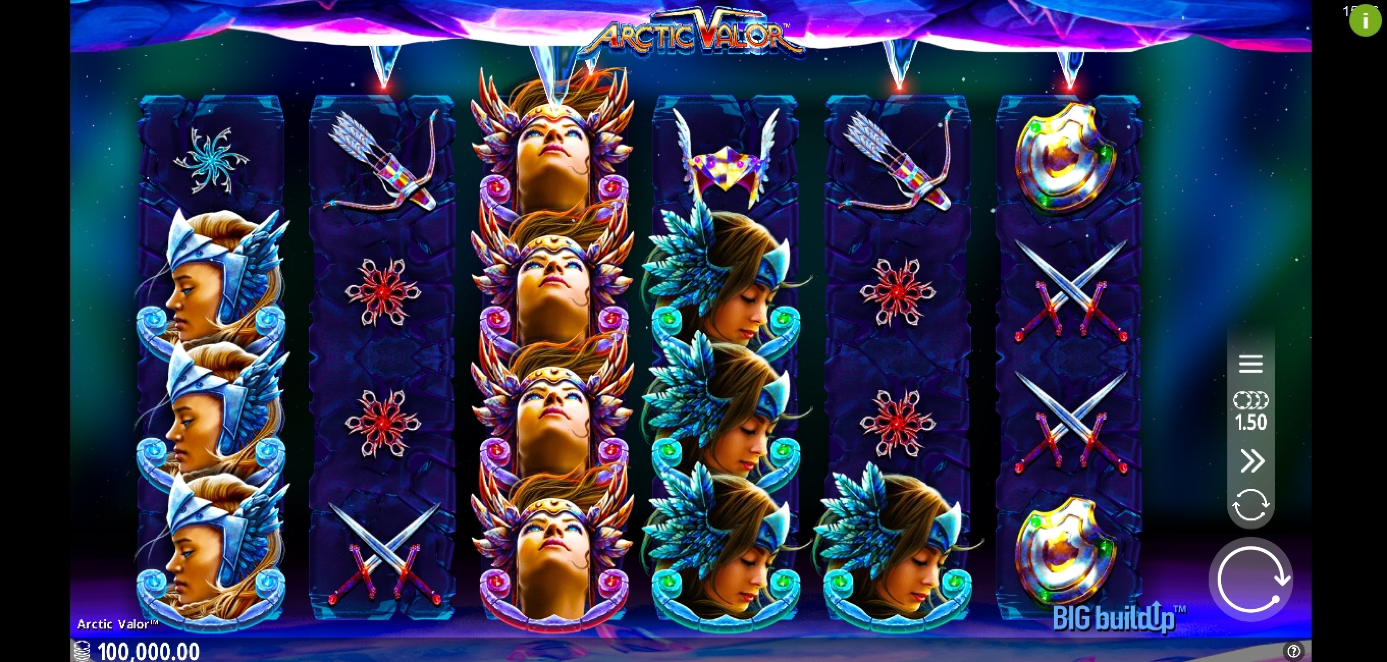 Reels in Arctic Valor Slot Game by Crazy Tooth Studio