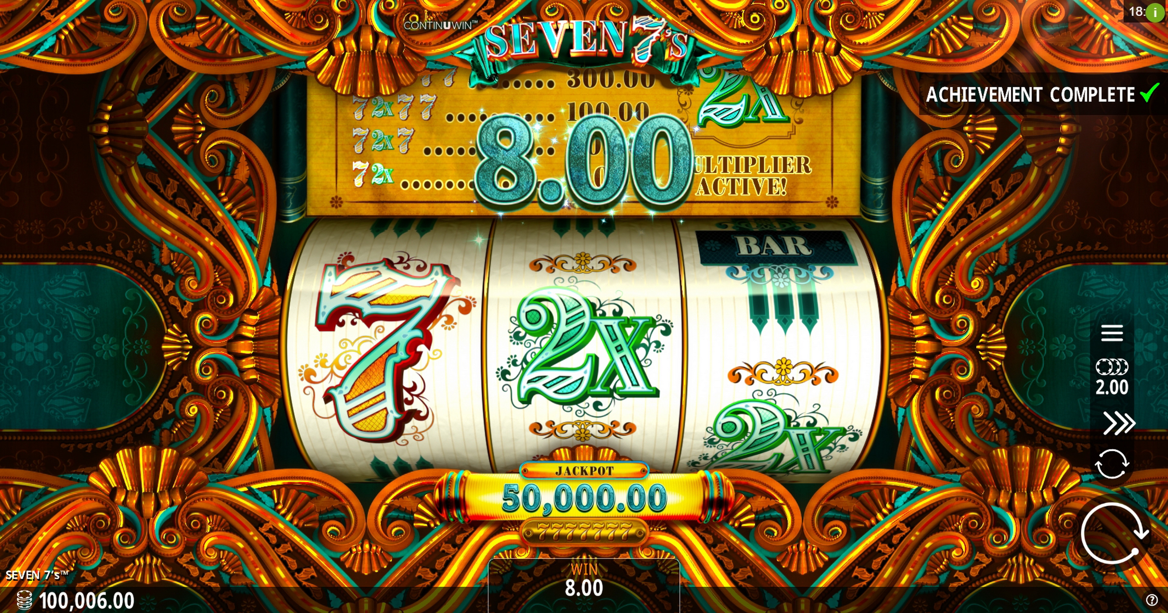 Win Money in Seven 7's Free Slot Game by Crazy Tooth Studio