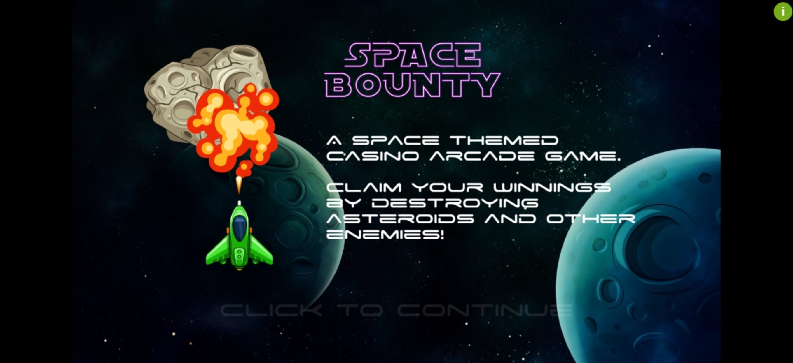 Play Space Bounty Free Casino Slot Game by Cubeia