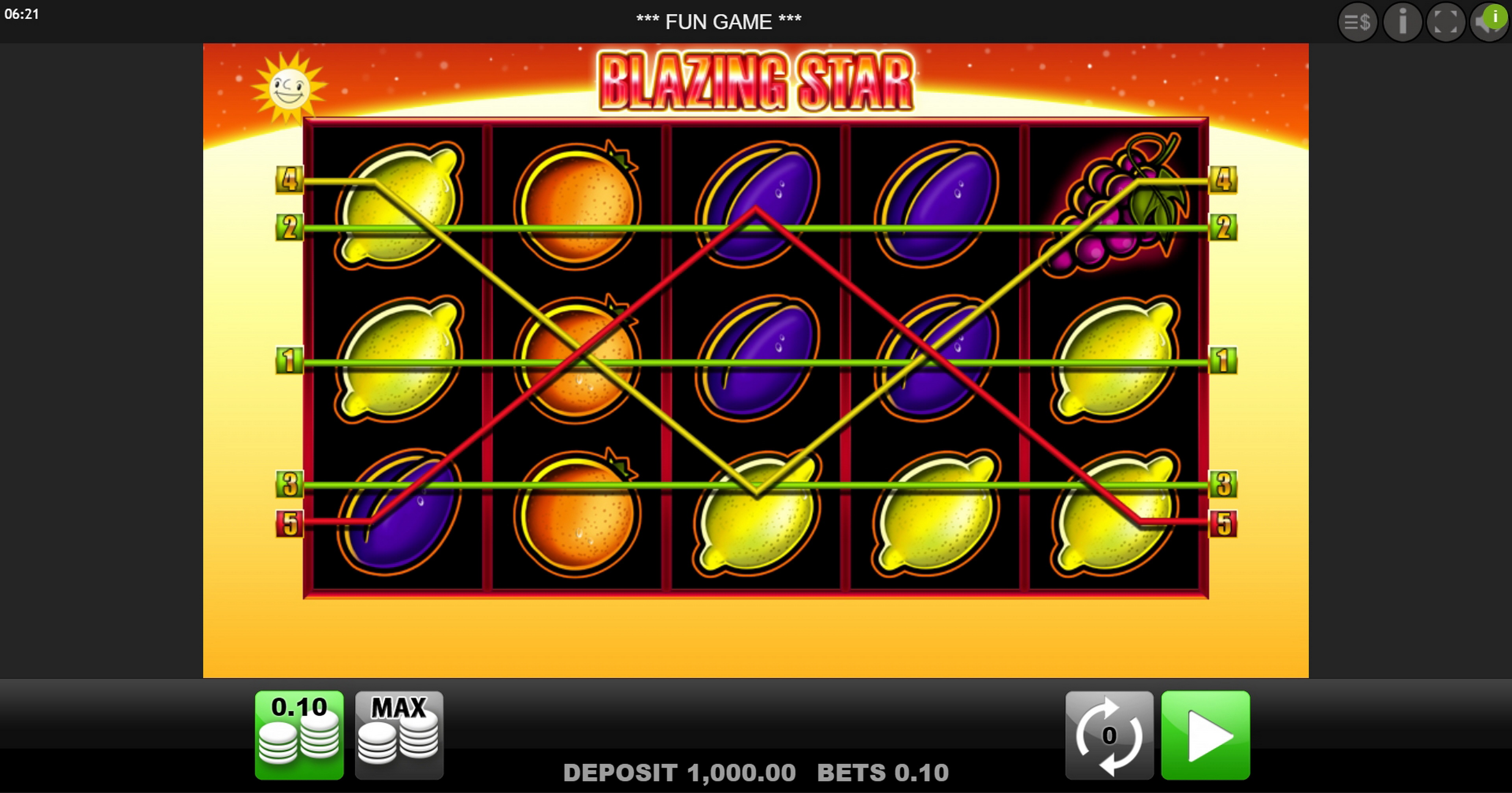 Play Blazing Star Free Casino Slot Game by edict