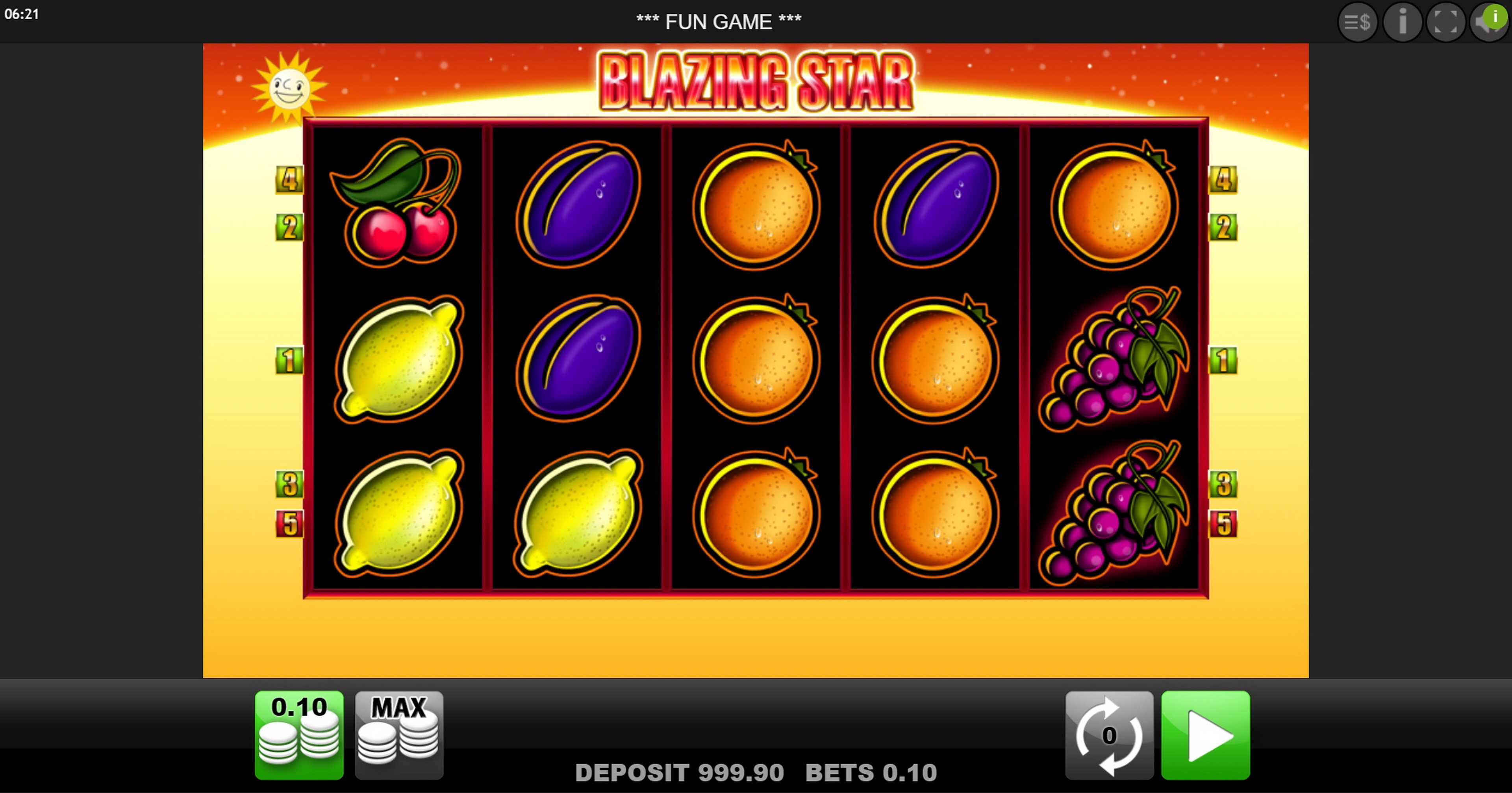 Reels in Blazing Star Slot Game by edict