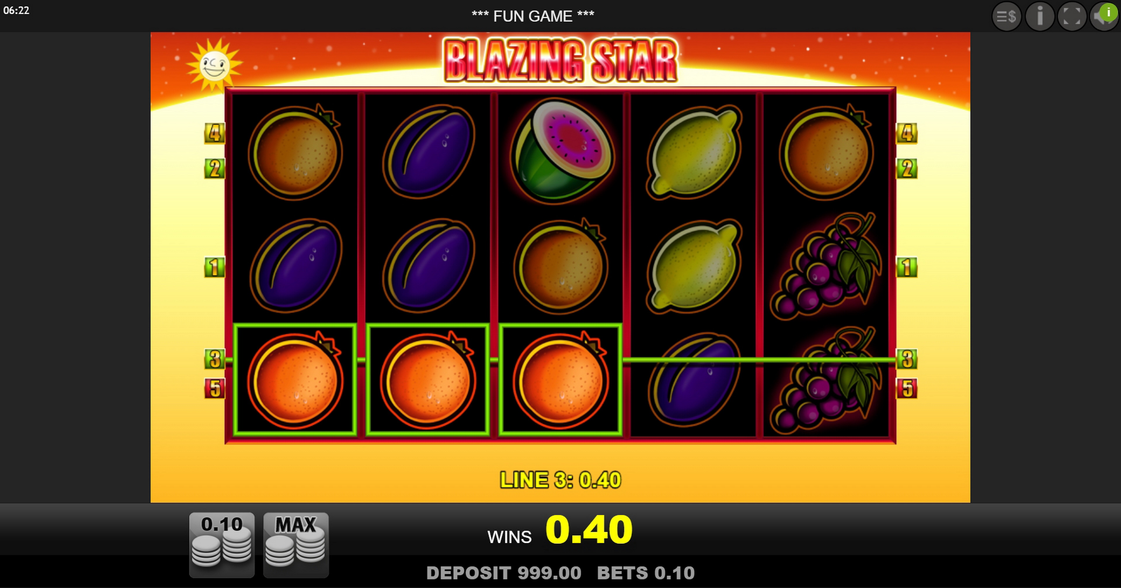 Win Money in Blazing Star Free Slot Game by edict