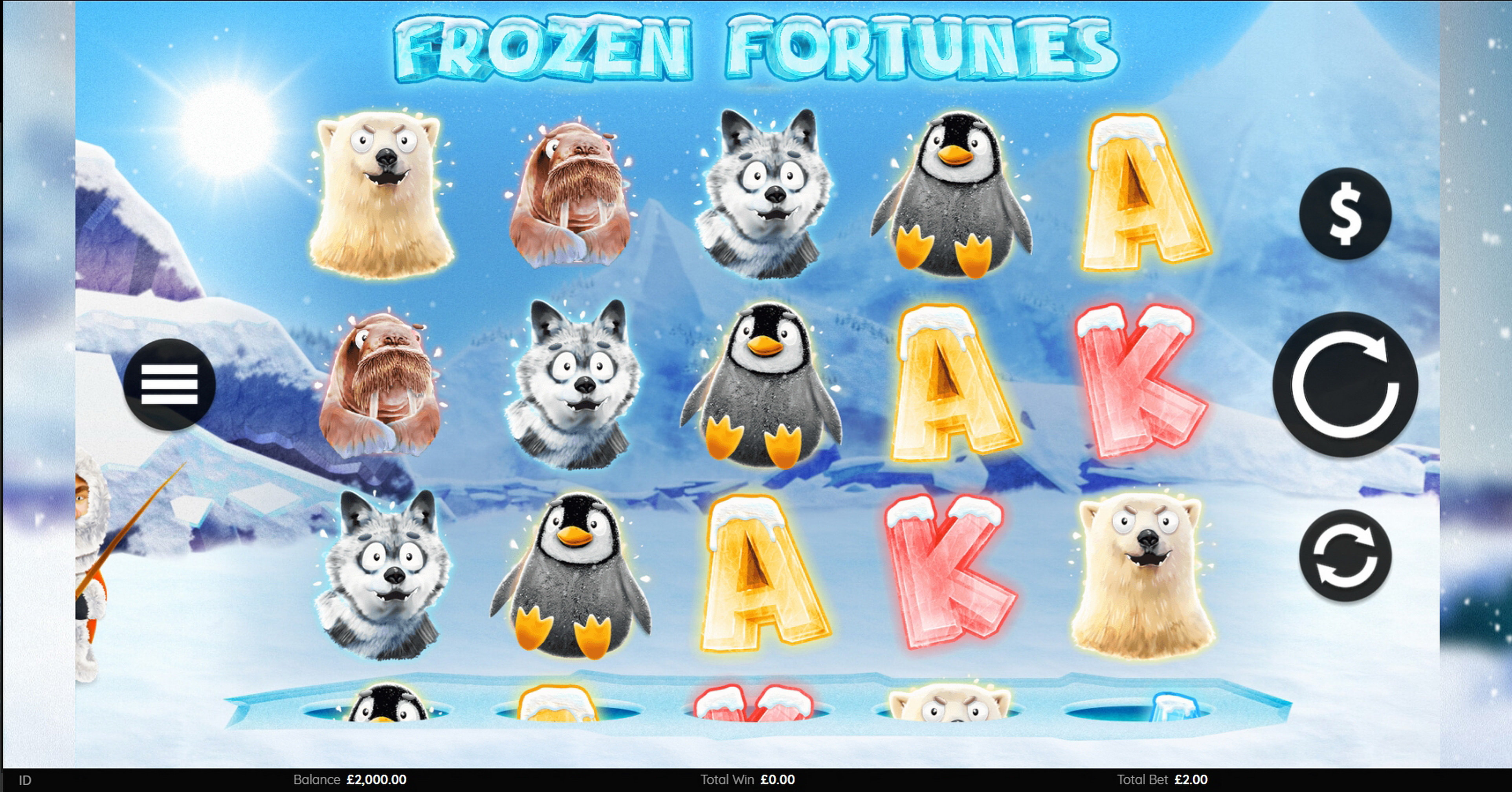 Reels in Frozen Fortunes Slot Game by Endemol Games
