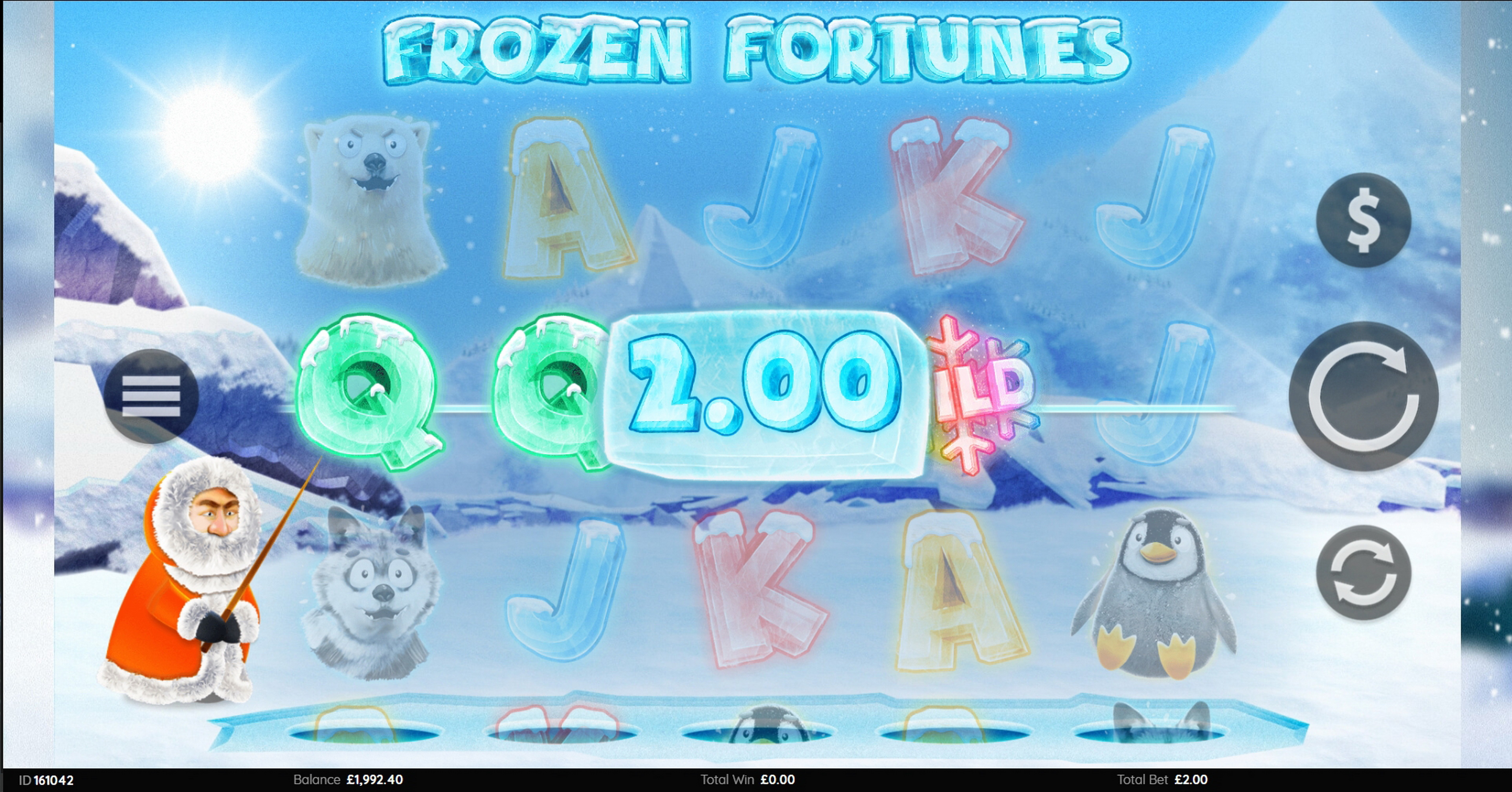 Win Money in Frozen Fortunes Free Slot Game by Endemol Games