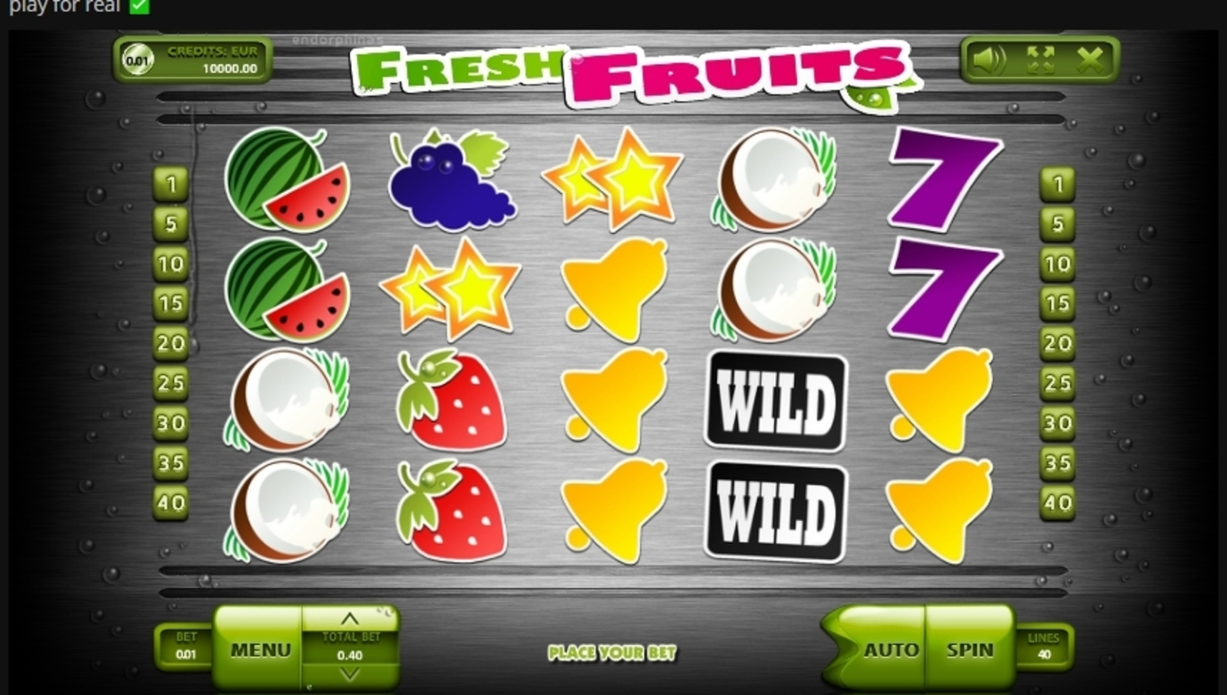 Reels in Fresh Fruits (Endorphina) Slot Game by Endorphina