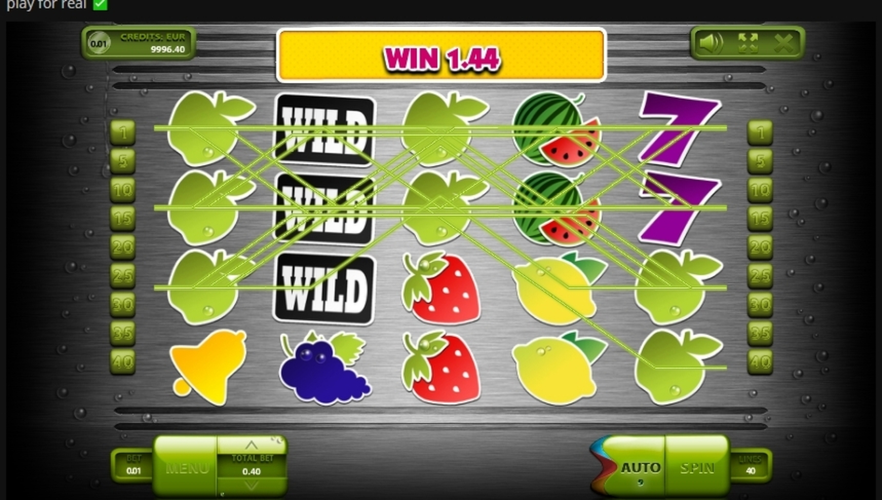 Win Money in Fresh Fruits (Endorphina) Free Slot Game by Endorphina
