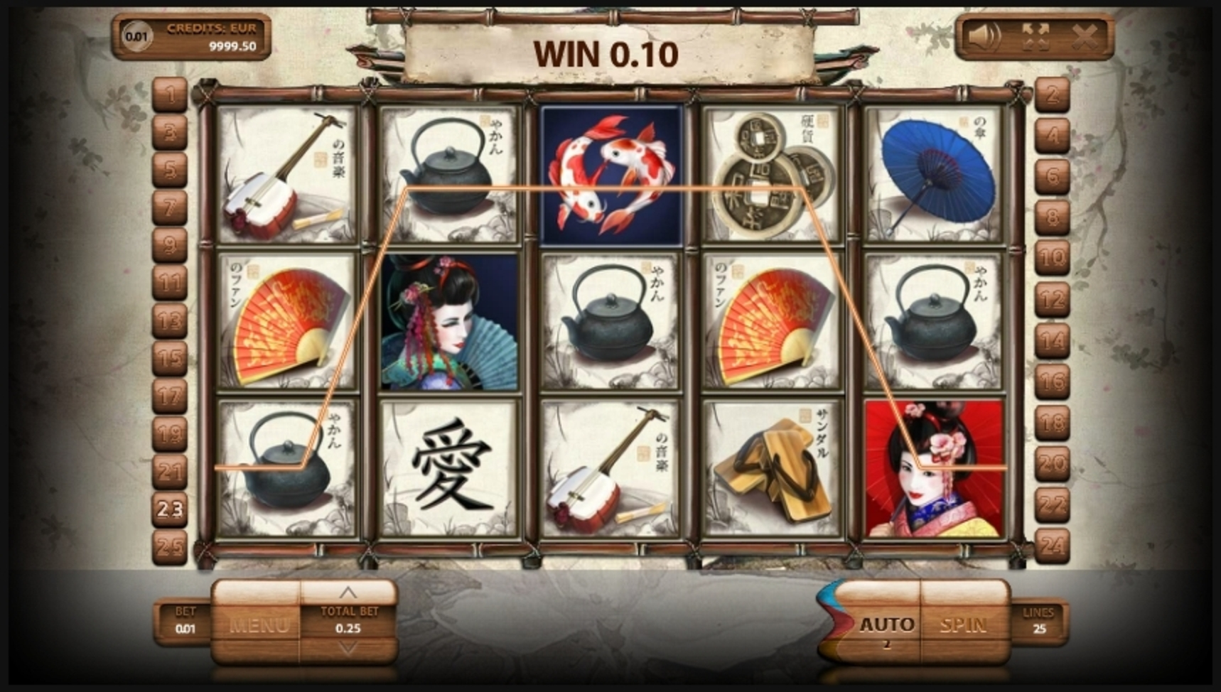 Win Money in Geisha Free Slot Game by Endorphina