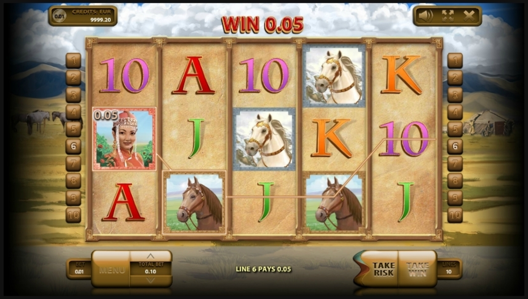 Win Money in Mongol Treasures Free Slot Game by Endorphina