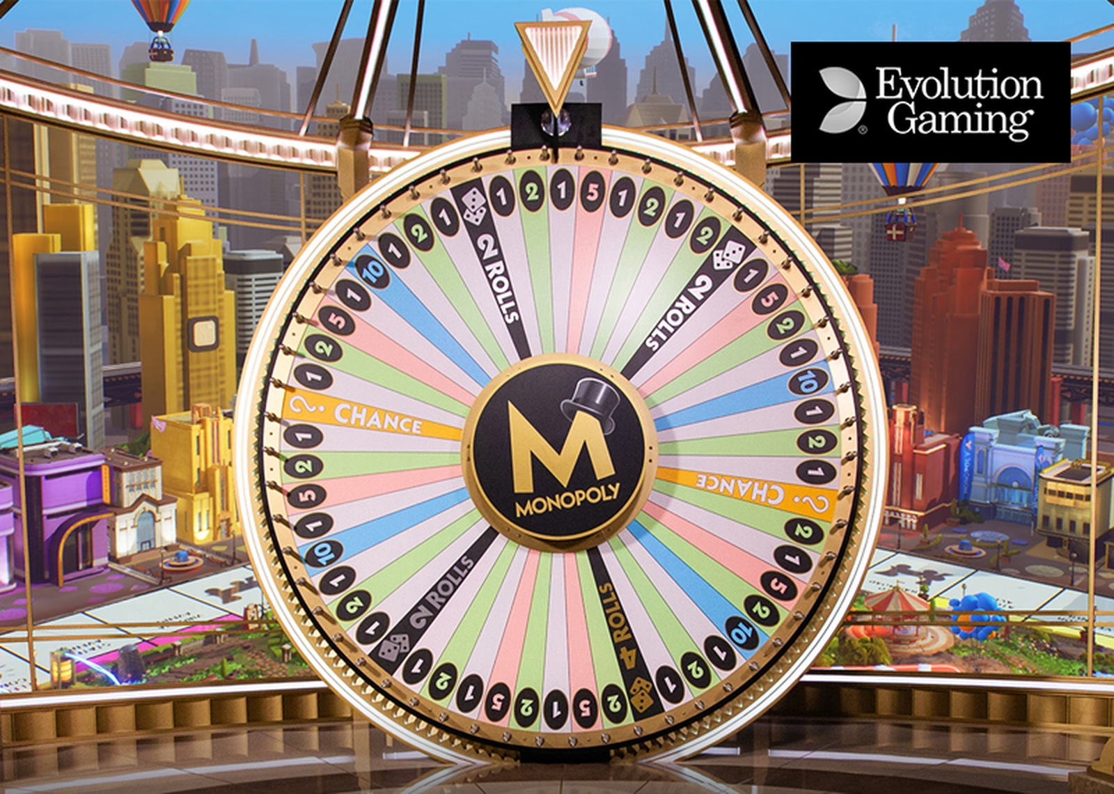 Reels in Money Wheel (Evolution Gaming) Slot Game by Evolution Gaming