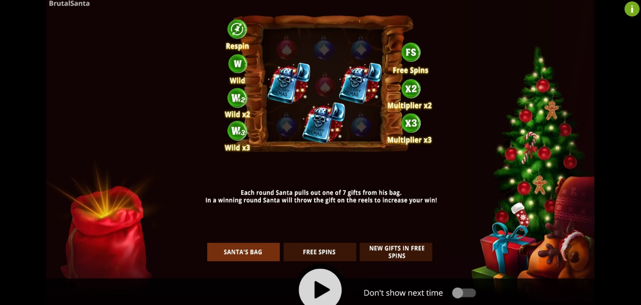 Play Brutal Santa Free Casino Slot Game by Evoplay Entertainment