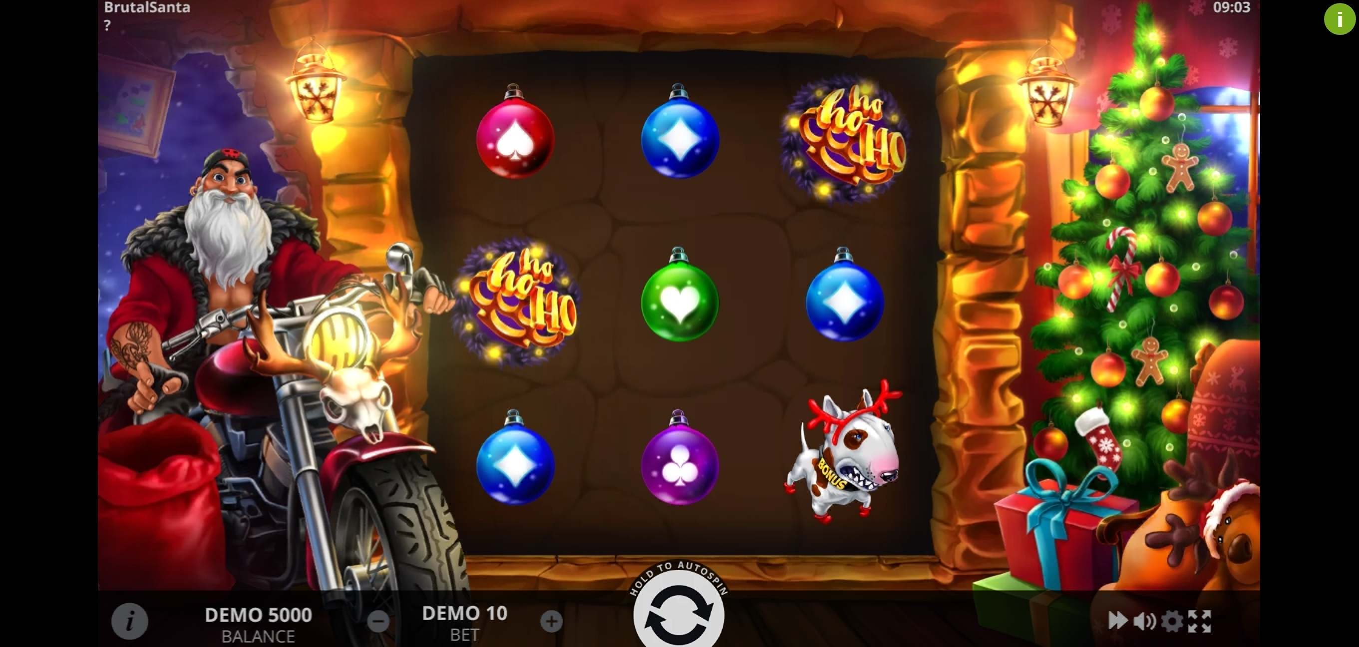 Reels in Brutal Santa Slot Game by Evoplay Entertainment