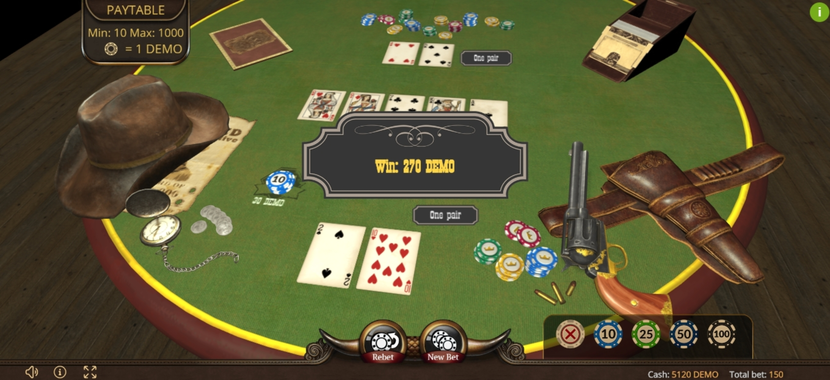 Win Money in Texas Holdem Poker 3D Free Slot Game by Evoplay Entertainment