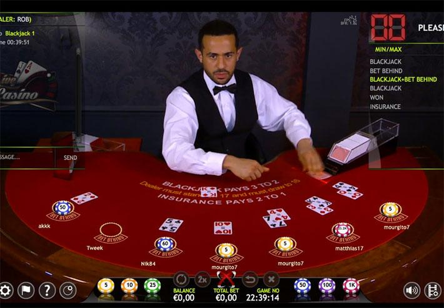 The Blackjack 2 Live Casino (Extreme Gaming) Online Slot Demo Game by Extreme Live Gaming