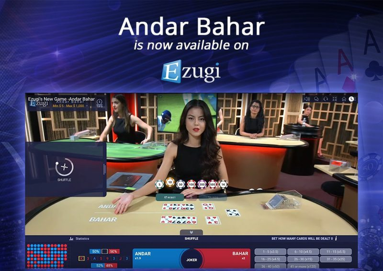 The Live Casino Lobby Online Slot Demo Game by Ezugi