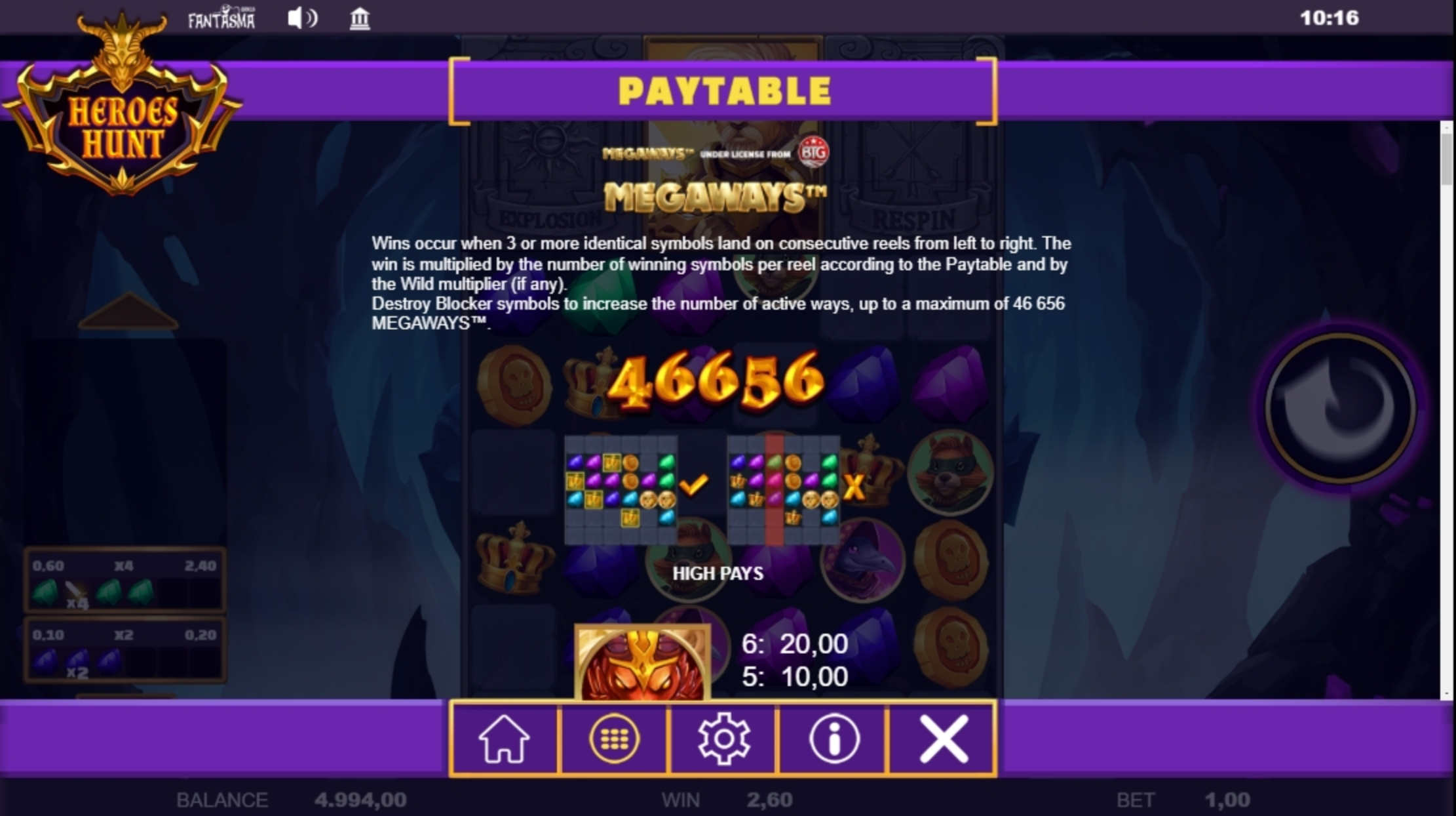 Info of Heroes Hunt Megaways Slot Game by Fantasma Games