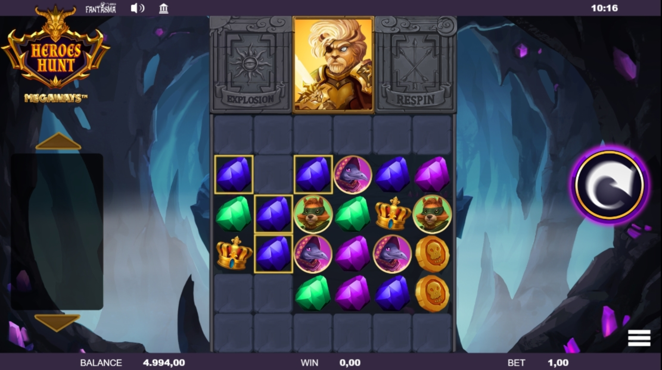 Win Money in Heroes Hunt Megaways Free Slot Game by Fantasma Games