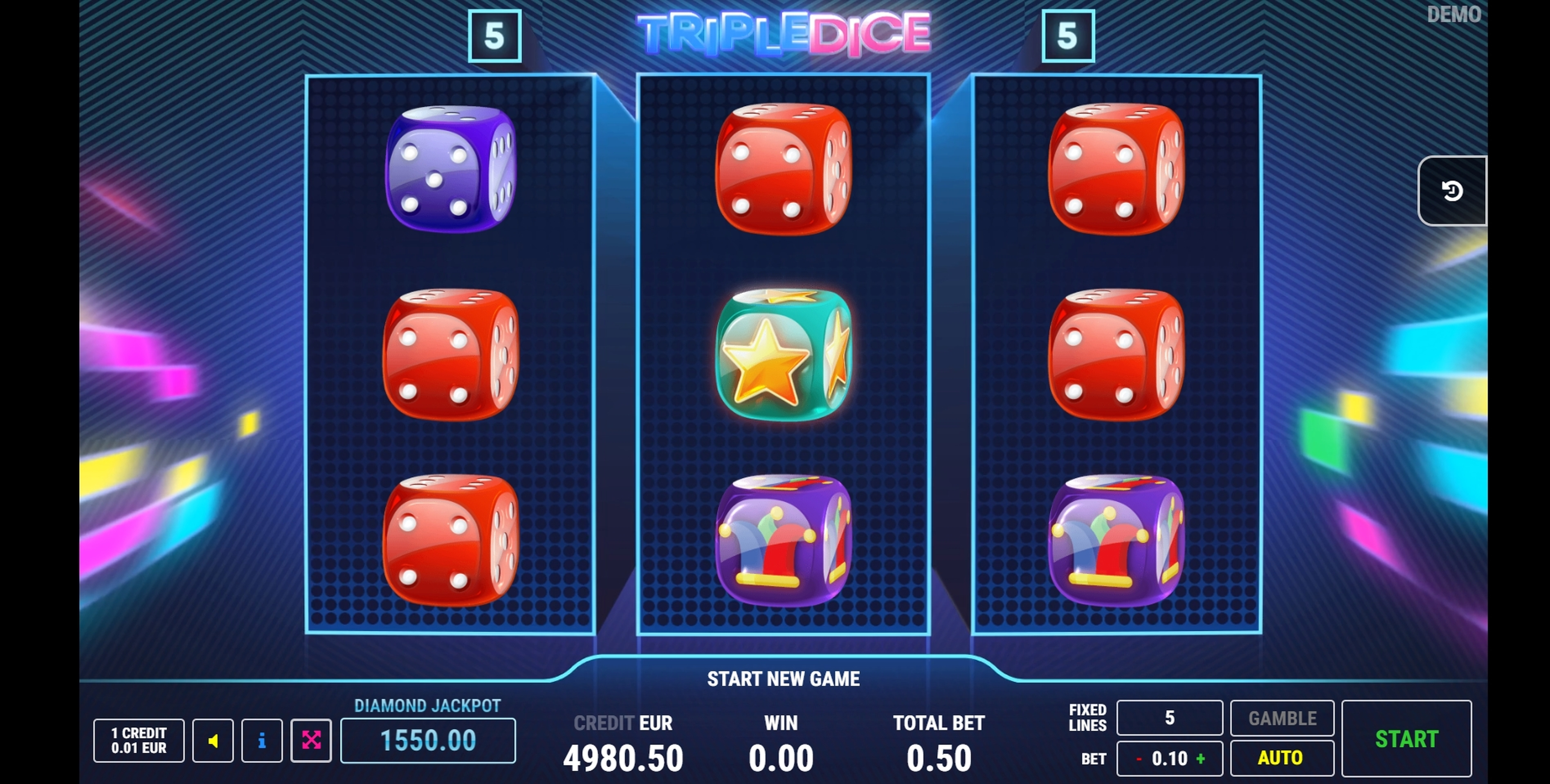 Win Money in Triple Dice Free Slot Game by Fazi