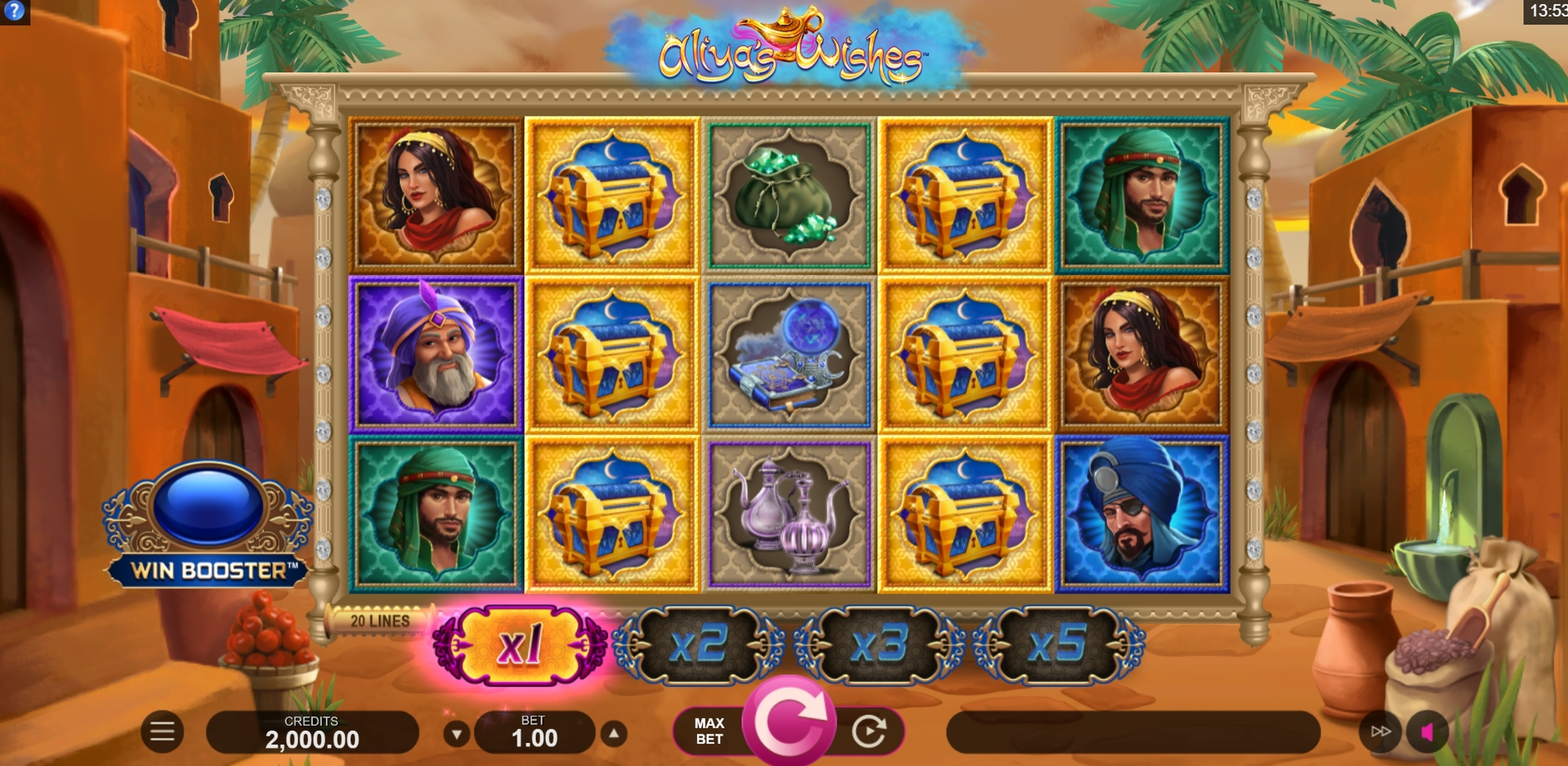 Reels in Aliyas Wishes Slot Game by Fortune Factory Studios