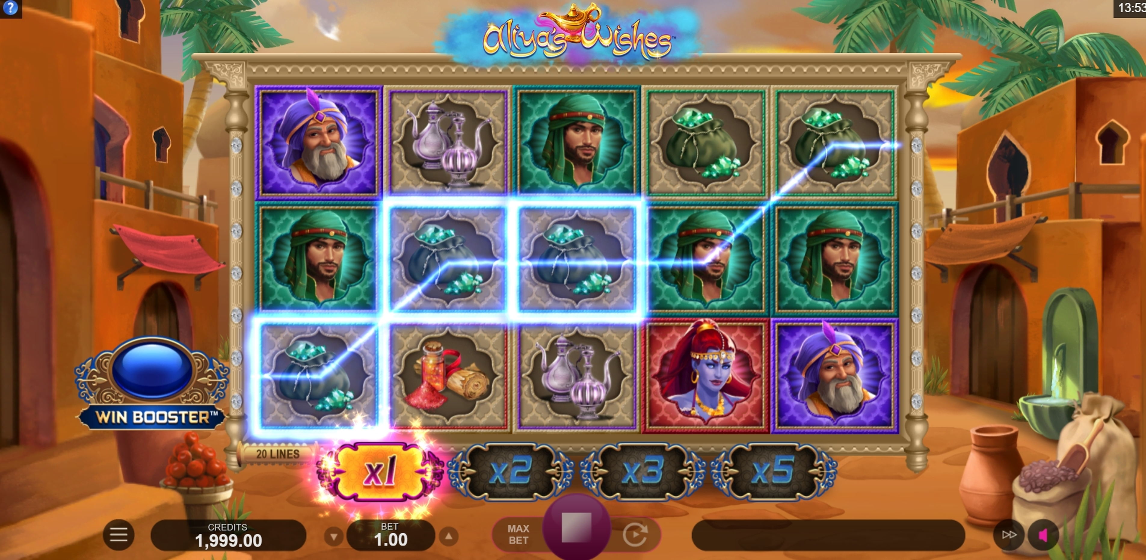 Win Money in Aliyas Wishes Free Slot Game by Fortune Factory Studios