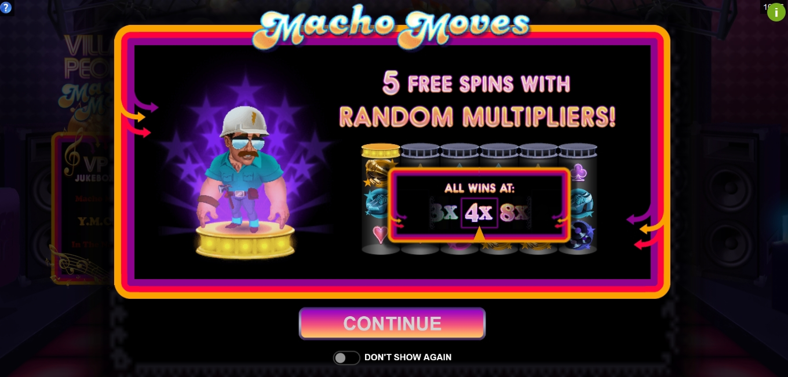 Play Village People Macho Moves Free Casino Slot Game by Fortune Factory Studios