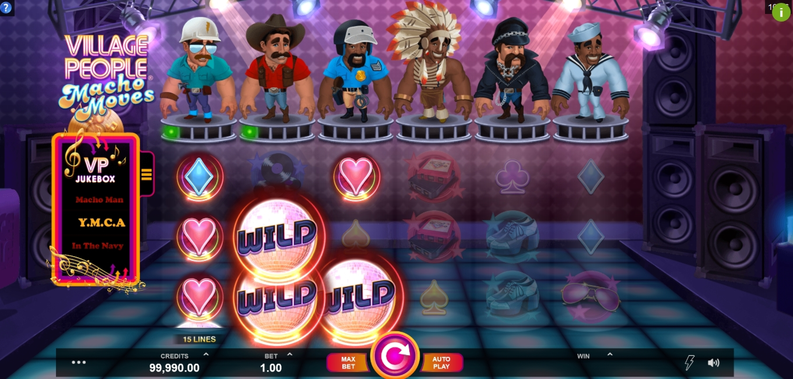 Win Money in Village People Macho Moves Free Slot Game by Fortune Factory Studios