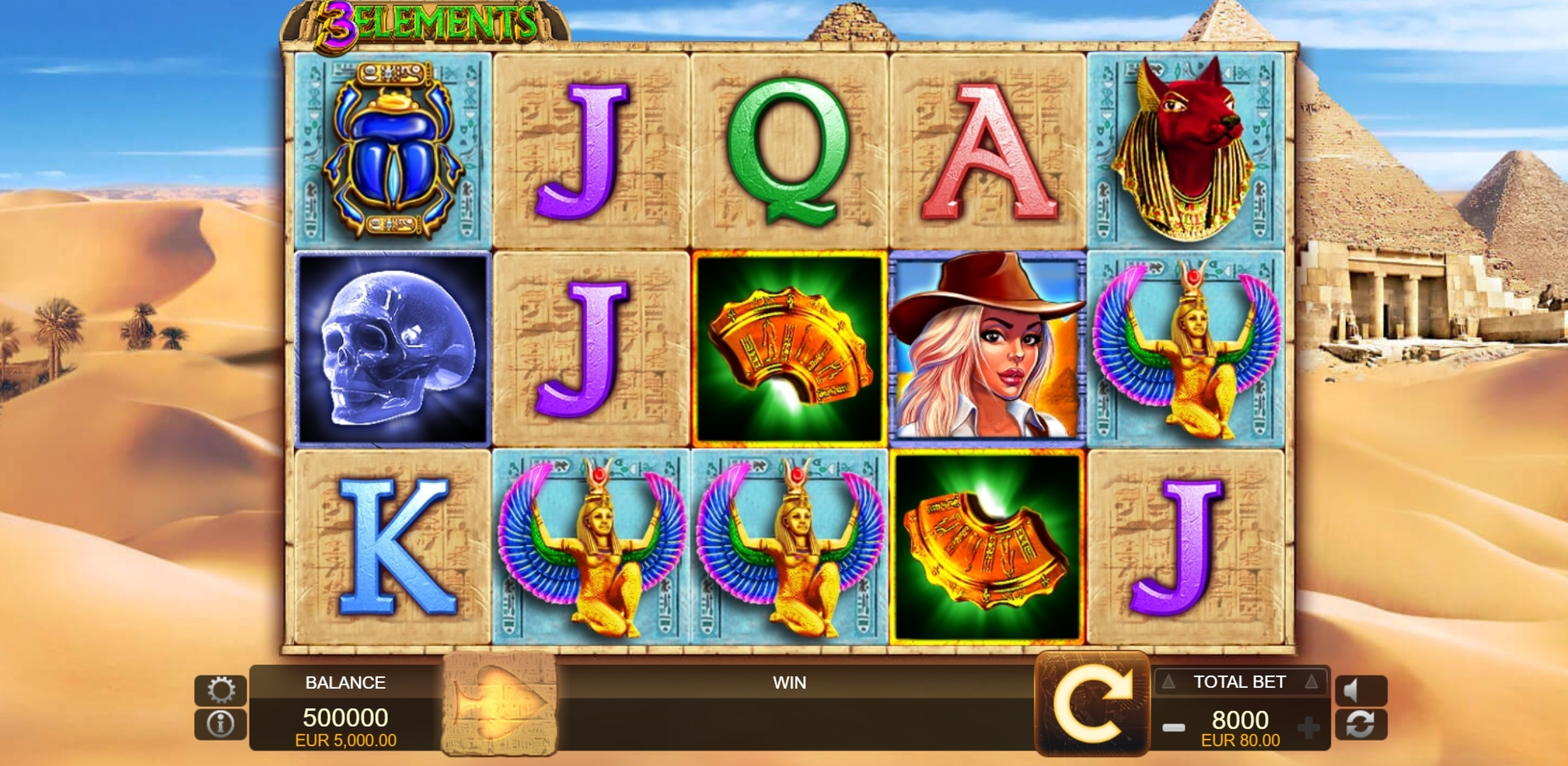Reels in 3 Elements Slot Game by FUGA Gaming
