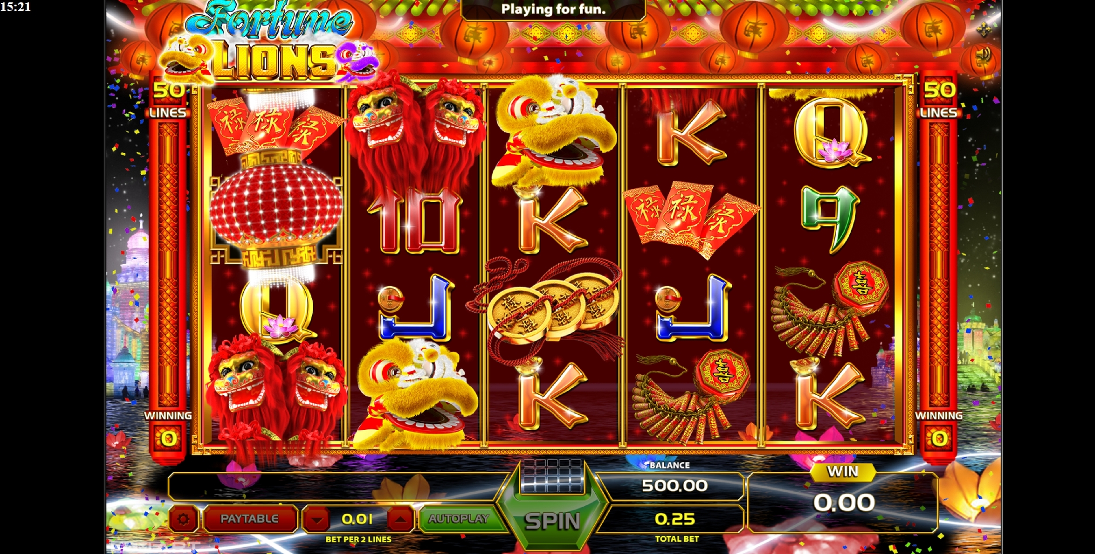 Reels in Fortune Lions (GameArt) Slot Game by GameArt