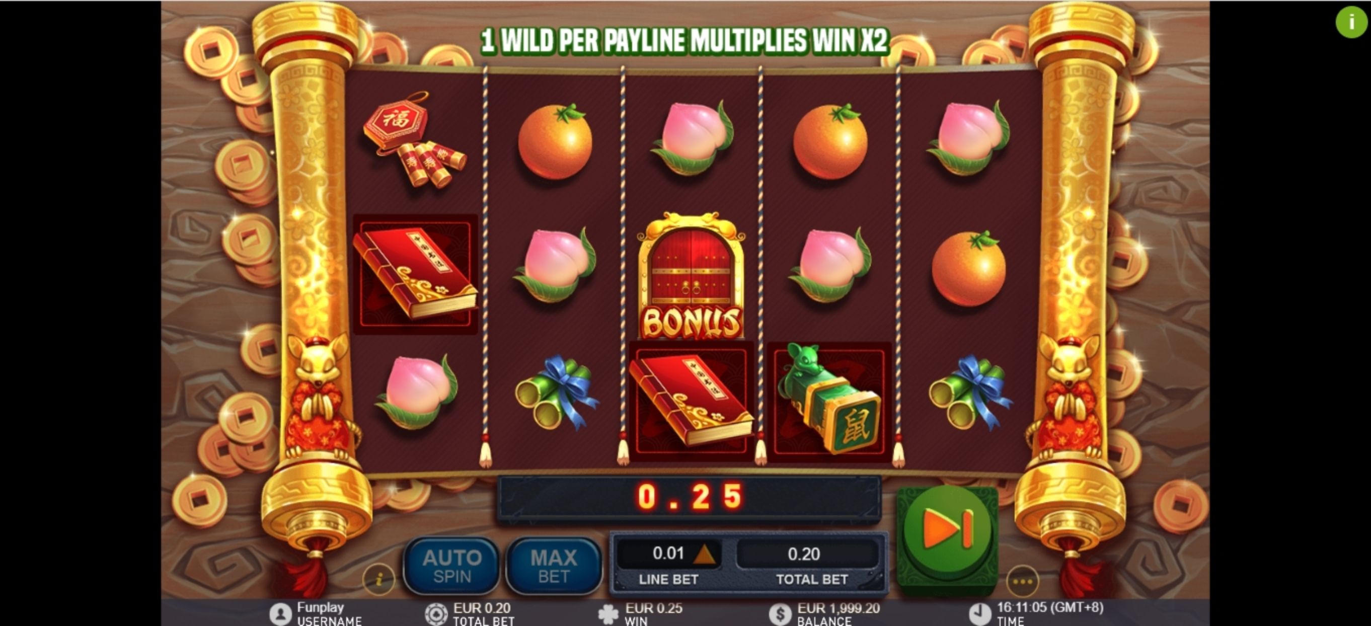 Win Money in Golden Ink Rat Free Slot Game by GamePlay