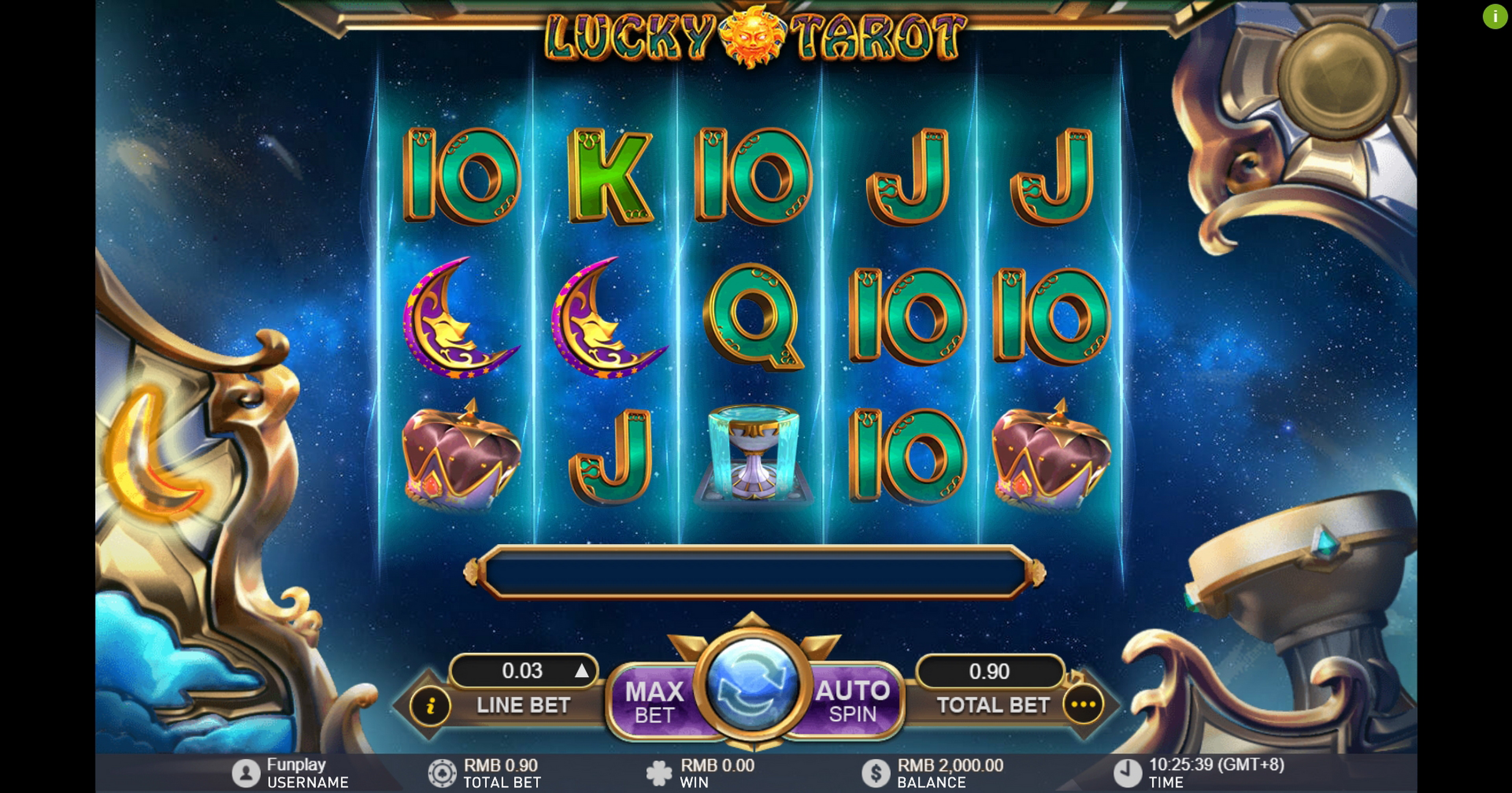 Reels in Lucky Tarot Slot Game by GamePlay