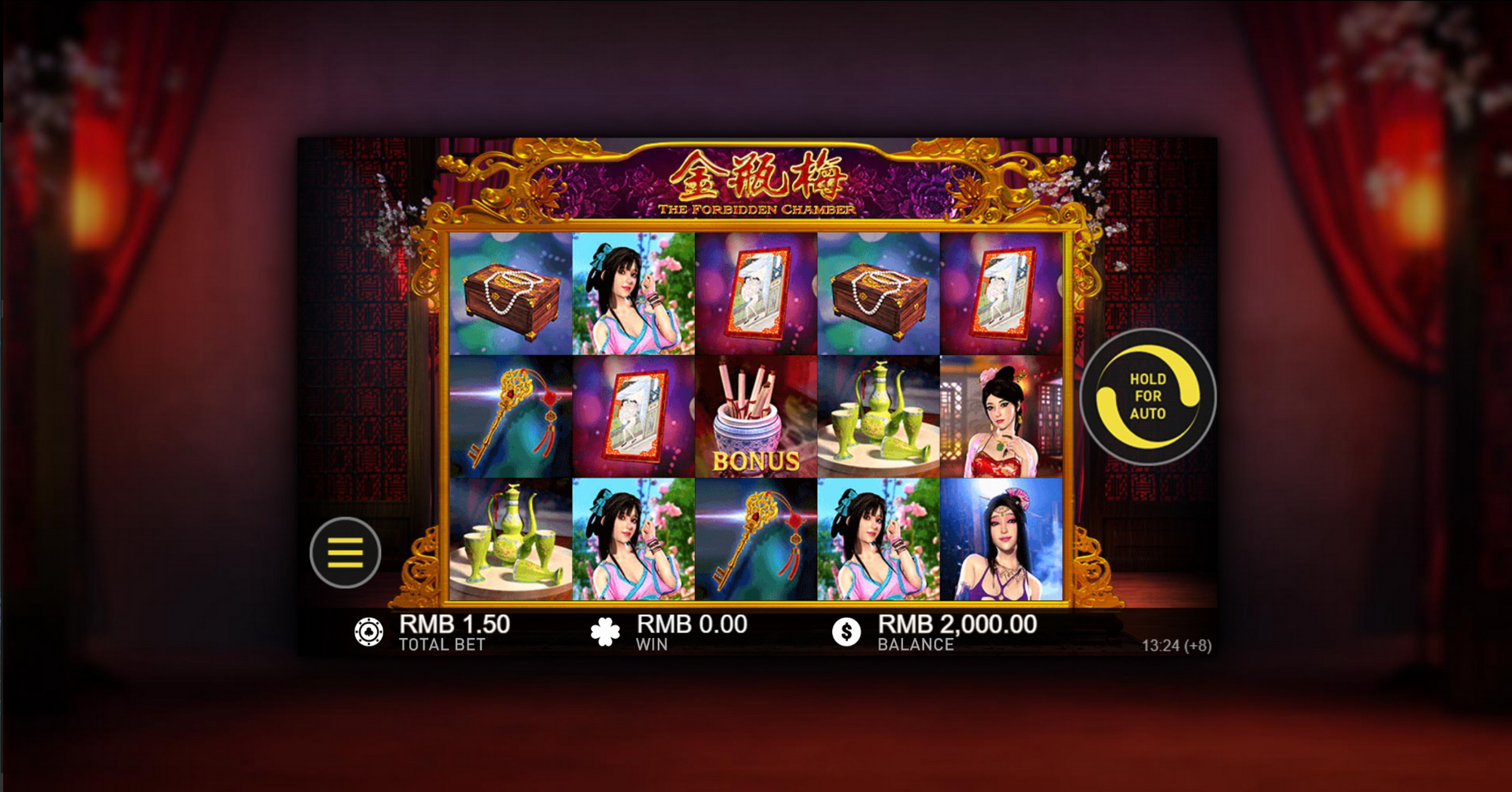 Reels in The Forbidden Chamber Slot Game by Gameplay Interactive