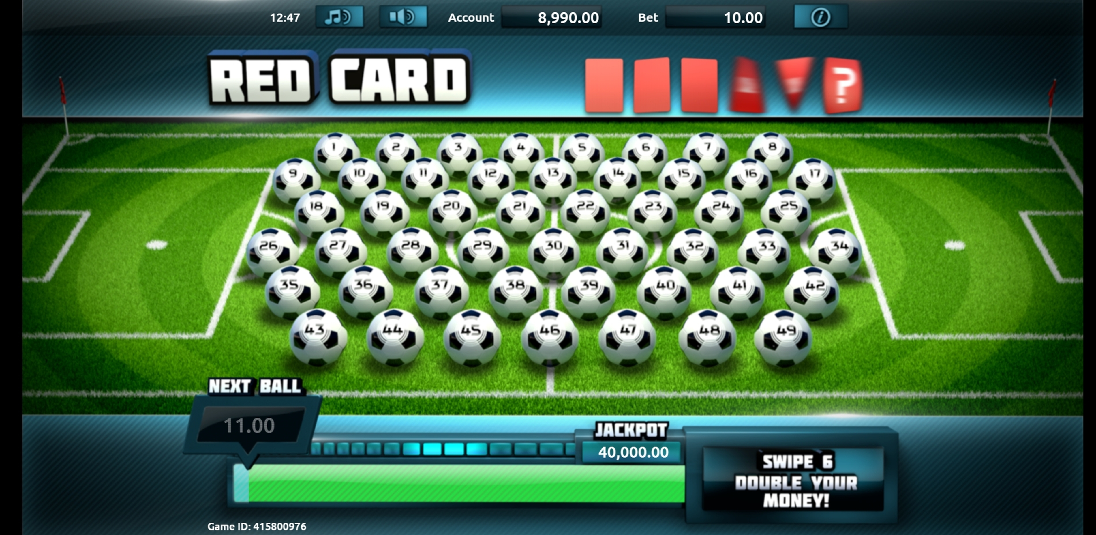 Reels in Boss the Ball Slot Game by gamevy