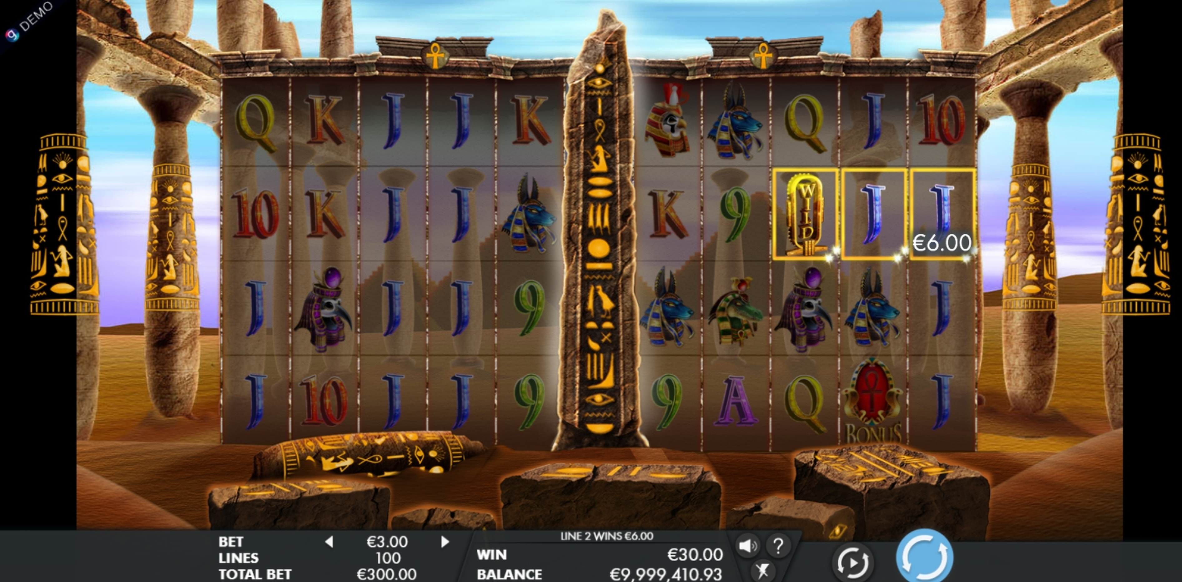 Win Money in Temple of Luxor Free Slot Game by Genesis