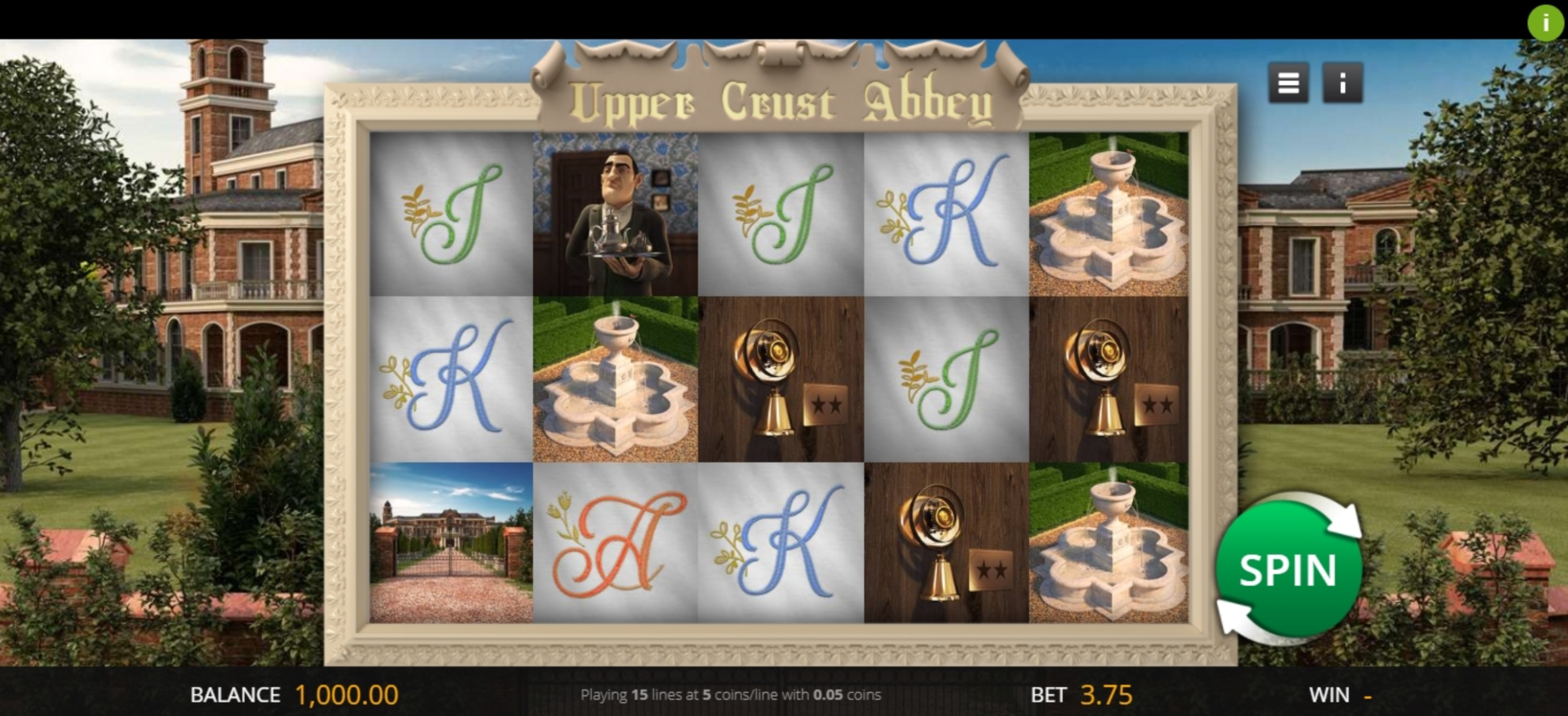 Reels in Upper Crust Abbey Slot Game by Genii