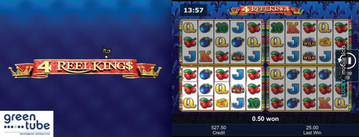 Reels in 4 Reel Kings Slot Game by Greentube