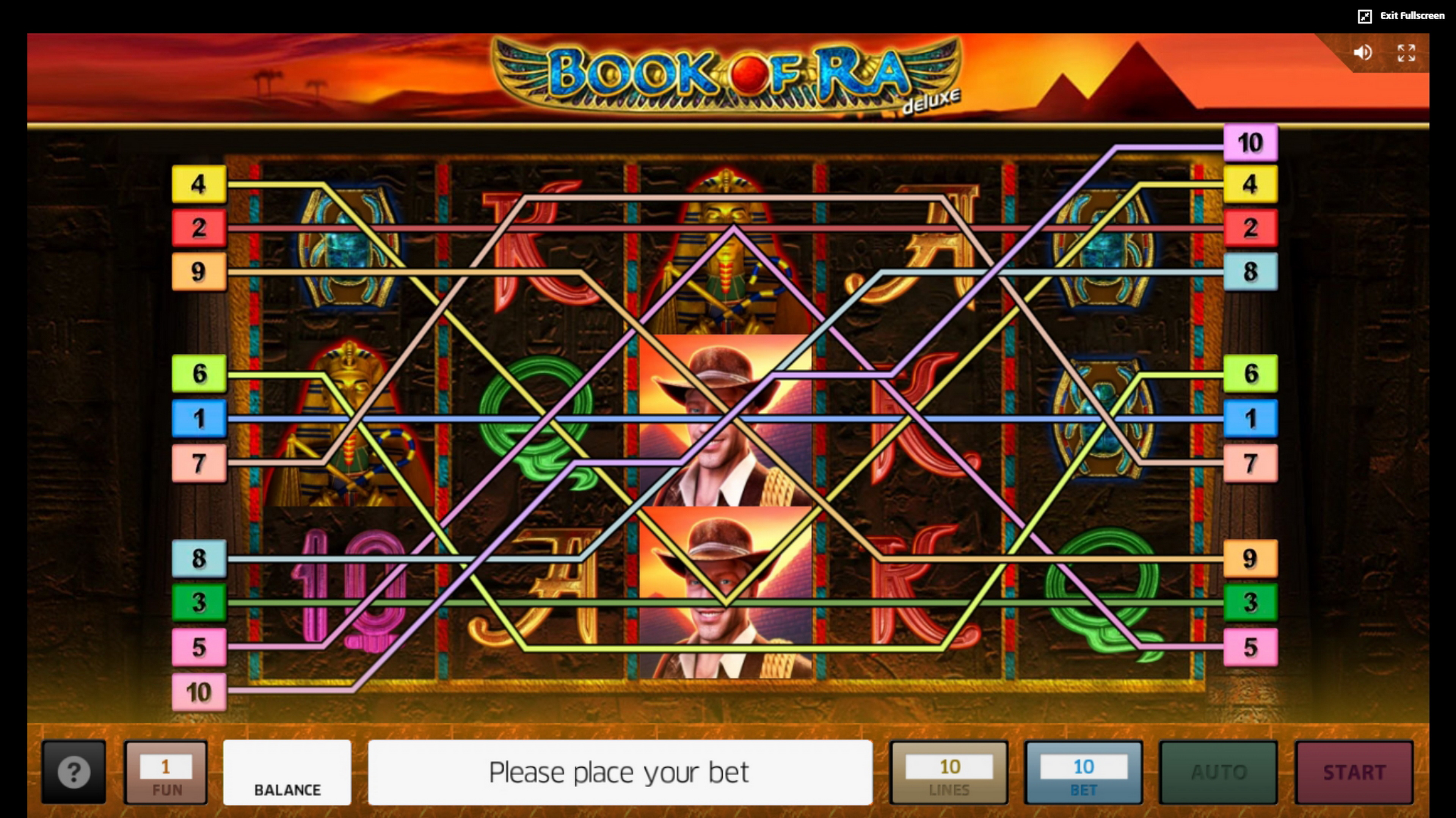 Play Book of Ra deluxe Free Casino Slot Game by Greentube
