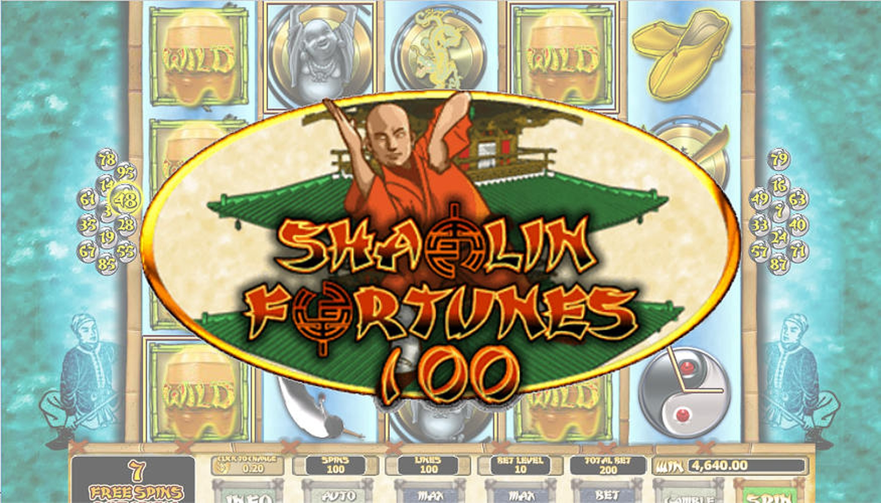 The Shaolin Fortunes 100 Online Slot Demo Game by Habanero