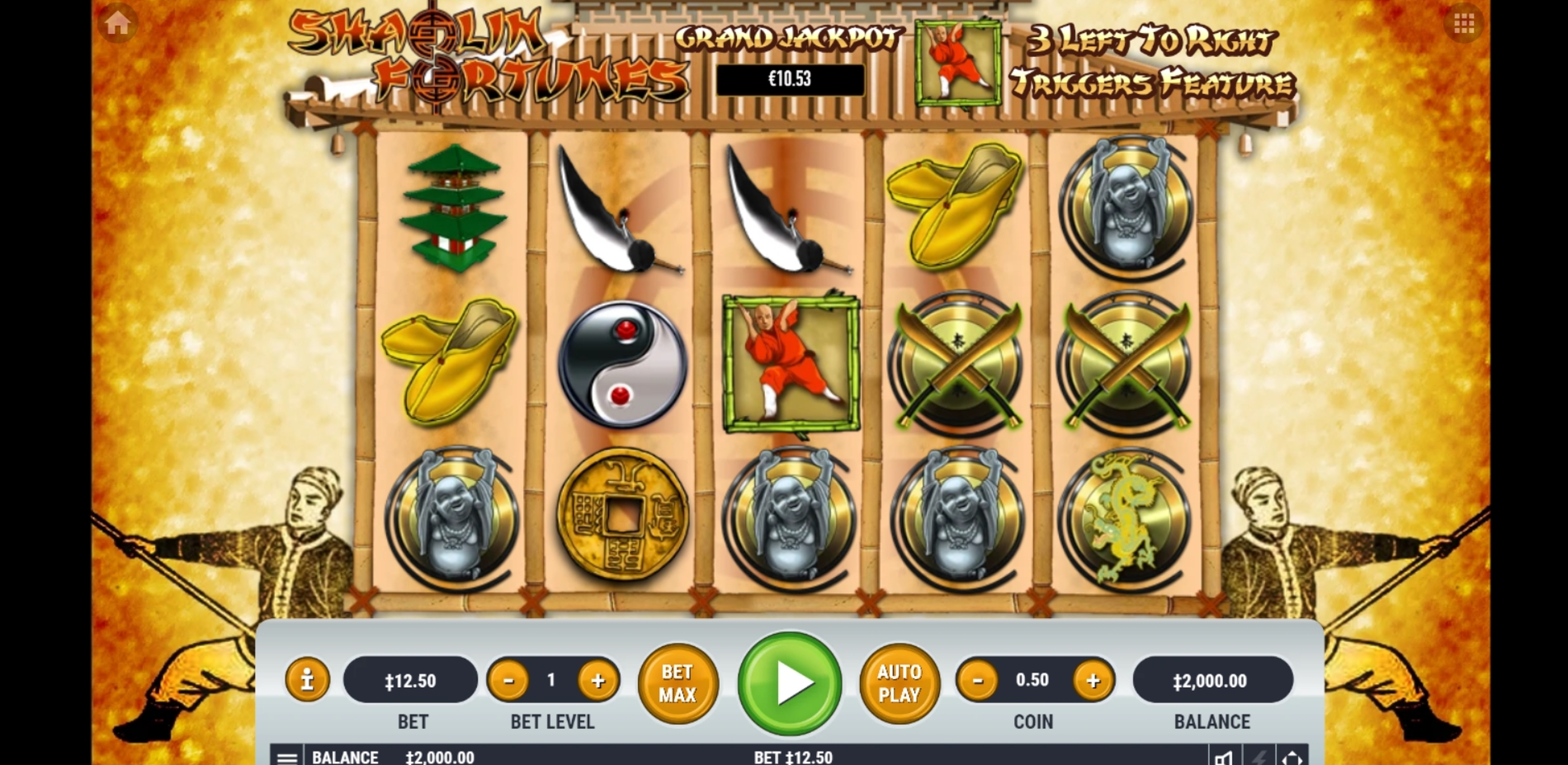 Reels in Shaolin Fortunes Slot Game by Habanero