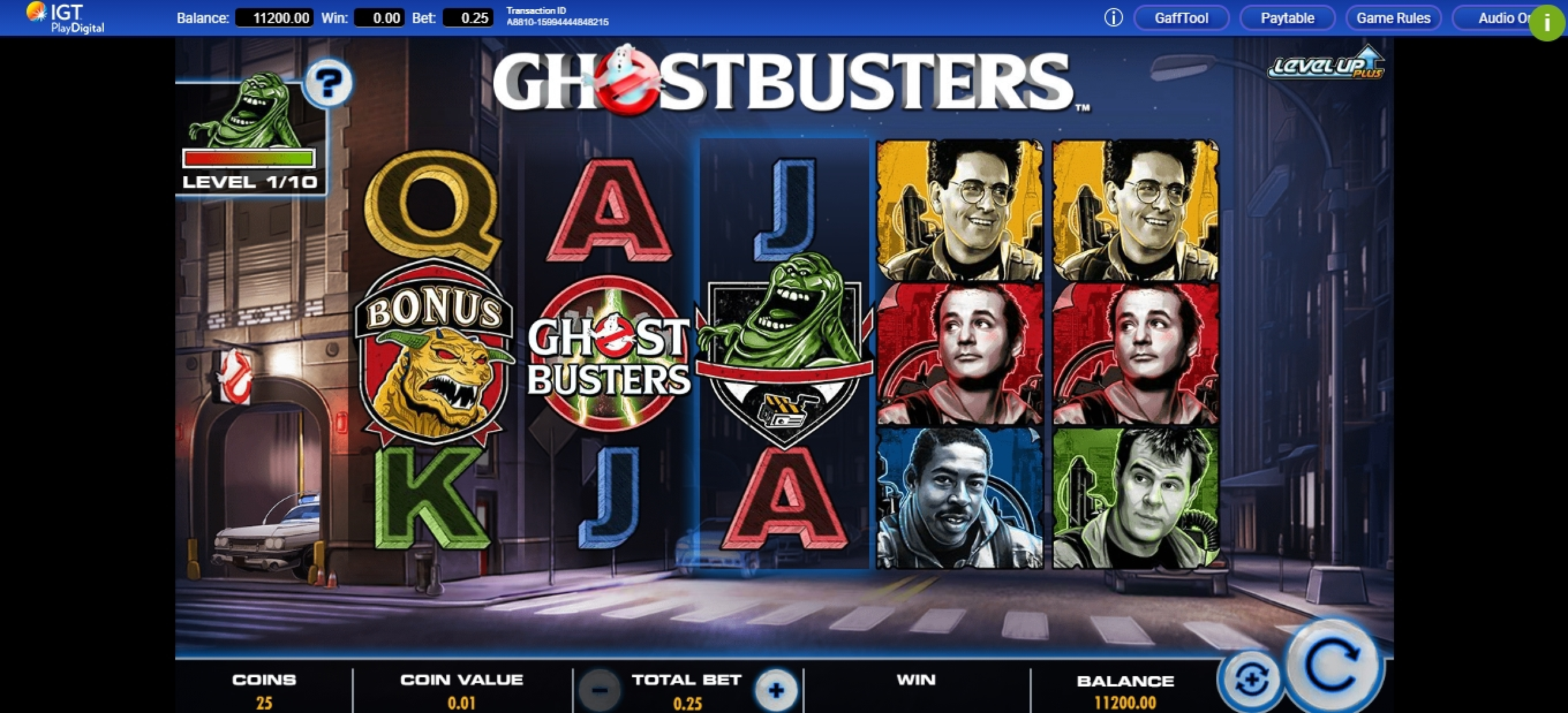 Reels in Ghostbusters Plus Slot Game by IGT