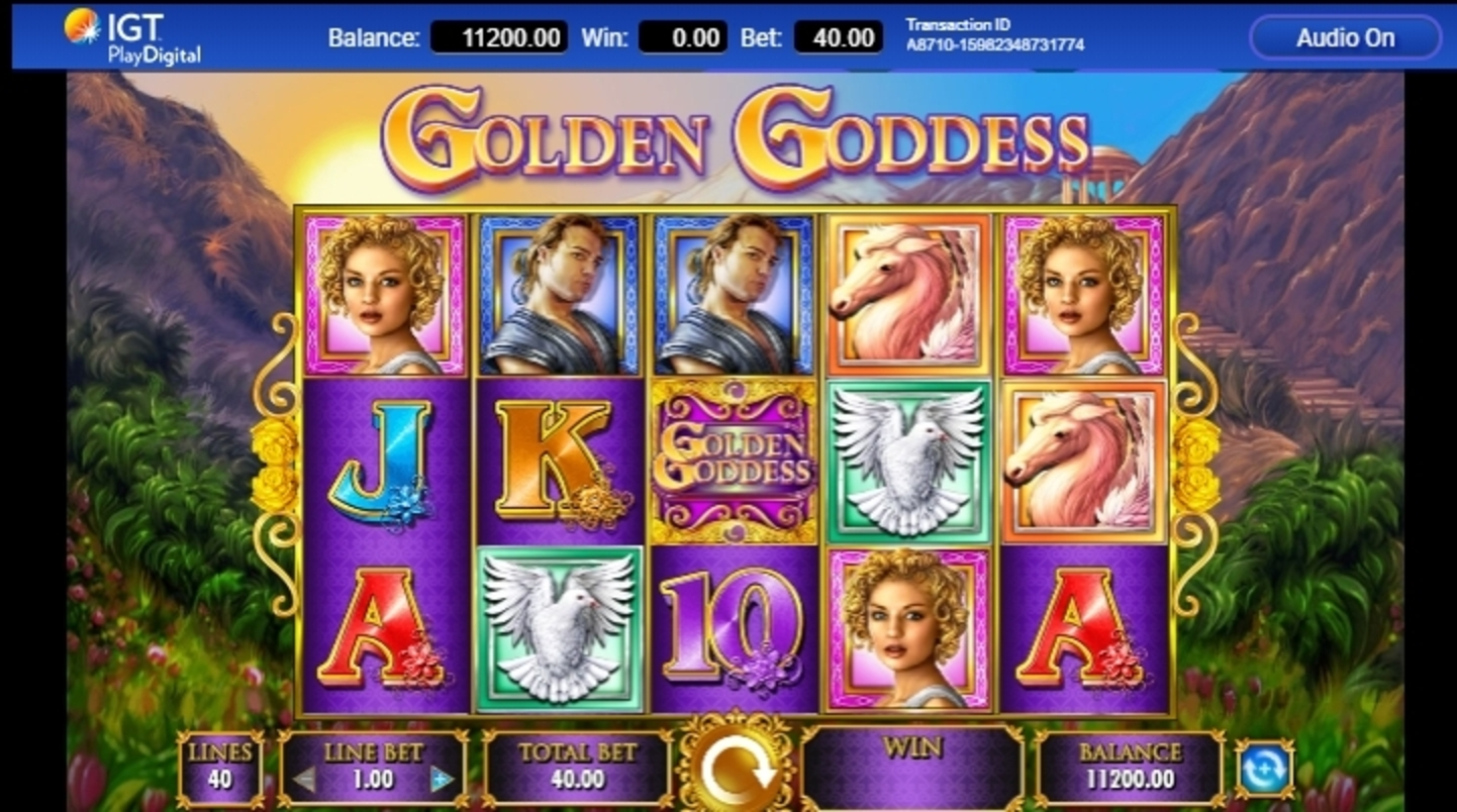 Reels in Golden Goddess Slot Game by IGT